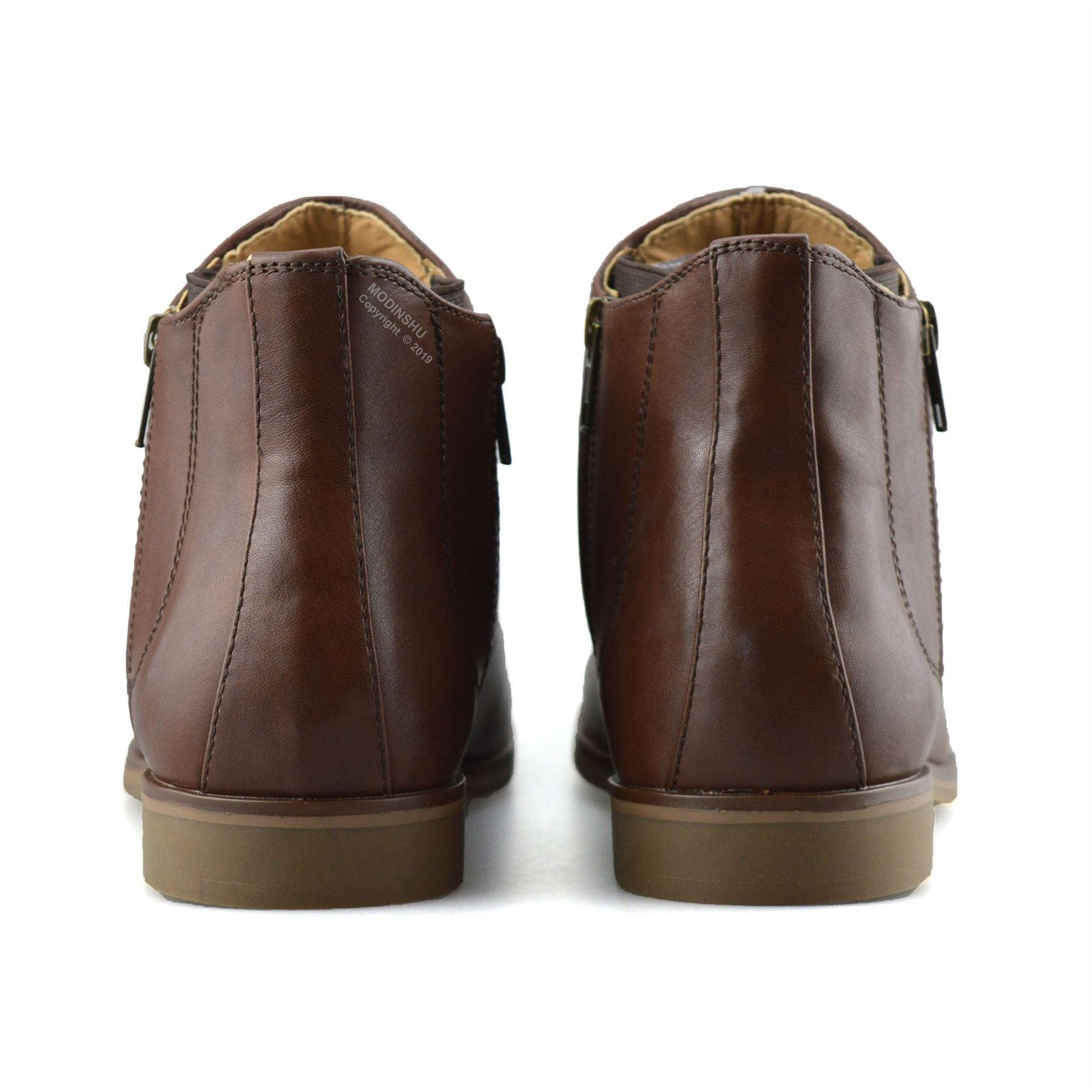 1478ed5035a Details about Mens New Zip Up Casual Smart Formal Chelsea Dealer Work Ankle  Boots Shoes Size