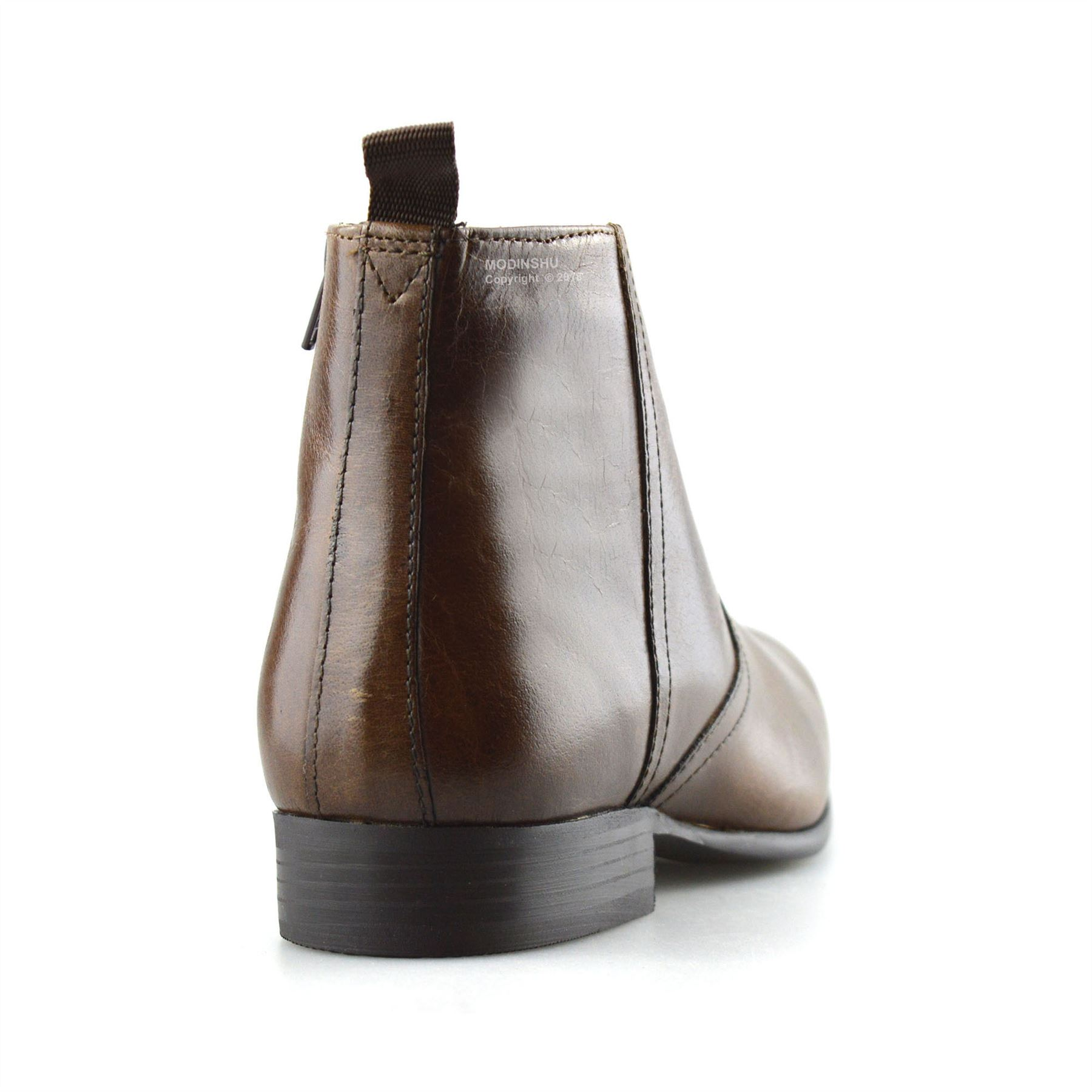Mens-New-Leather-Zip-Up-Smart-Formal-Chelsea-Dealer-Work-Ankle-Boots-Shoes-Size thumbnail 18