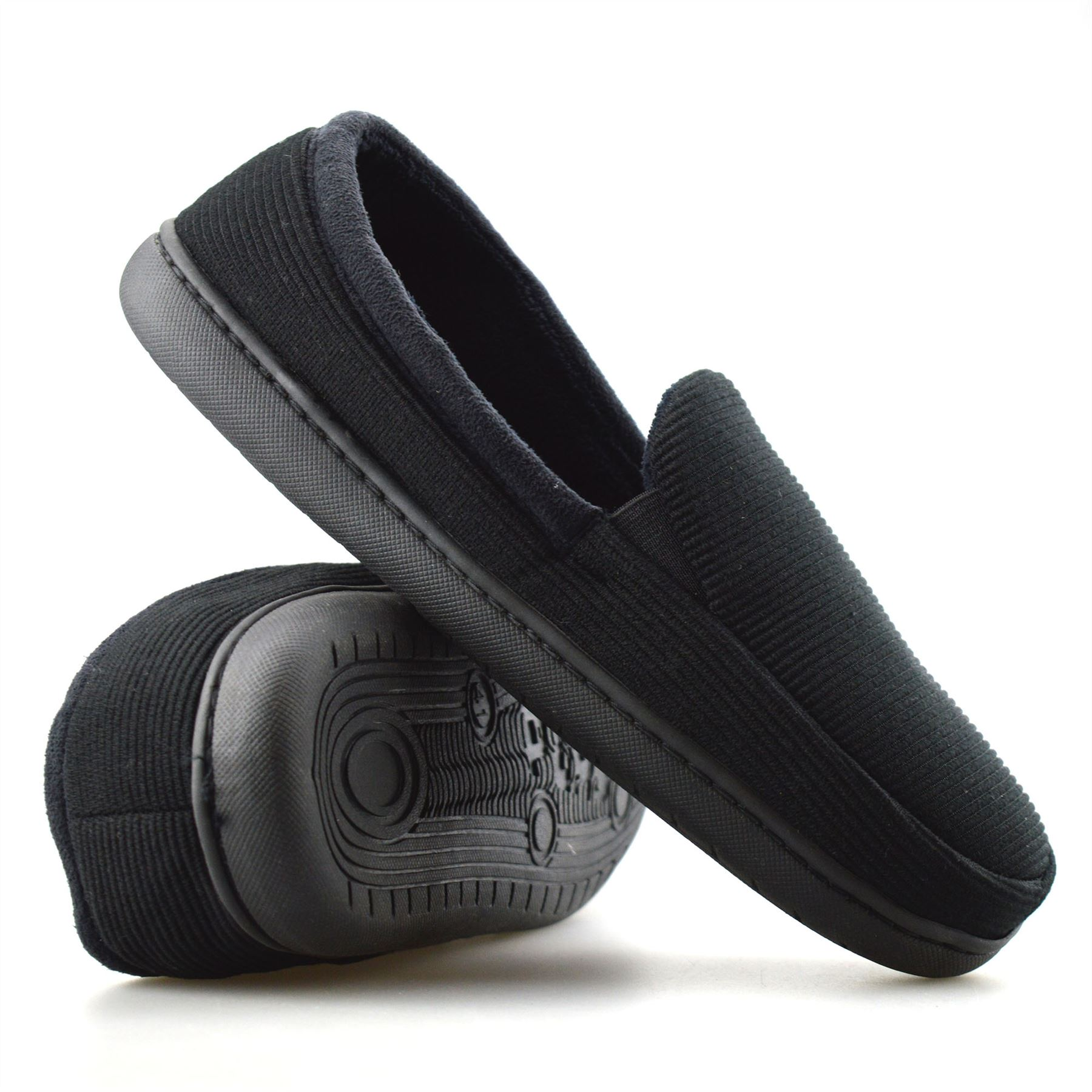 0d119cd315fba Mens New Slip On Soft Warm Lined Cord Winter Moccasin Slippers ...