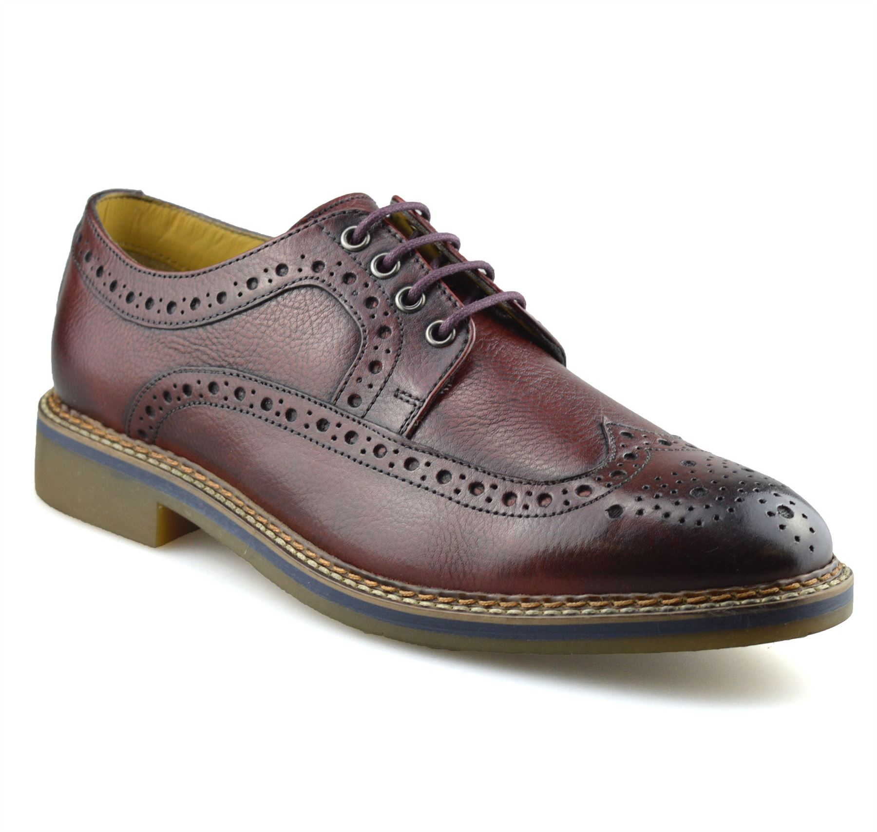 Mens-New-Ikon-Leather-Casual-Smart-Lace-Up-Oxford-Brogues-Work-Office-Shoes-Size thumbnail 25