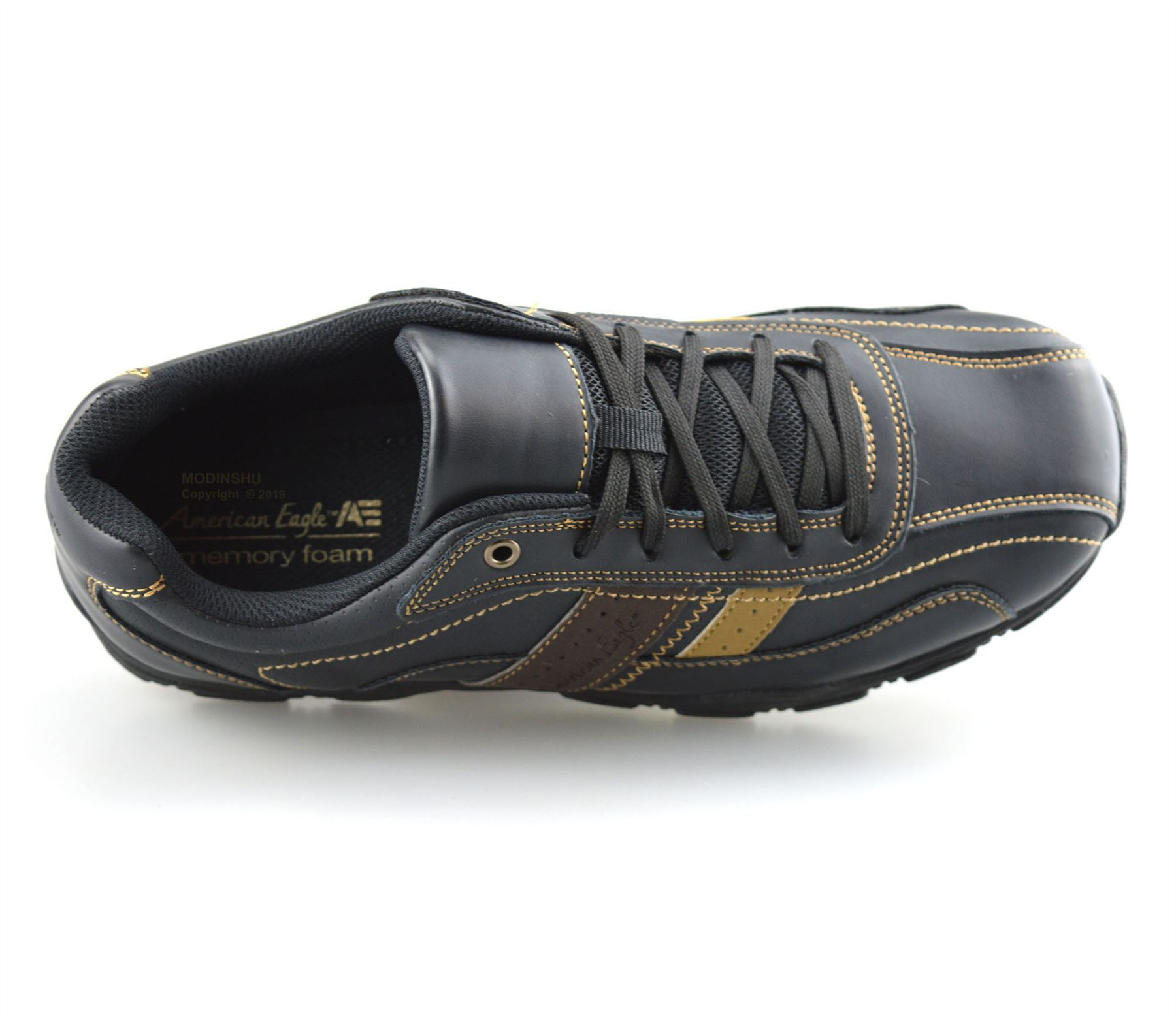 Mens-Casual-Memory-Foam-Walking-Hiking-Moccasin-Driving-Boat-Trainers-Shoes-Size thumbnail 12