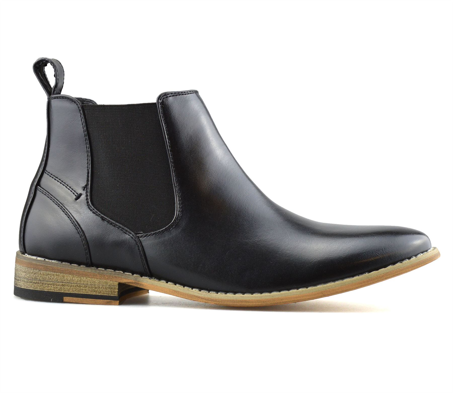 Mens-Memory-Foam-Chelsea-Ankle-Boots-Casual-Smart-Formal-Dealer-Work-Shoes-Size thumbnail 11