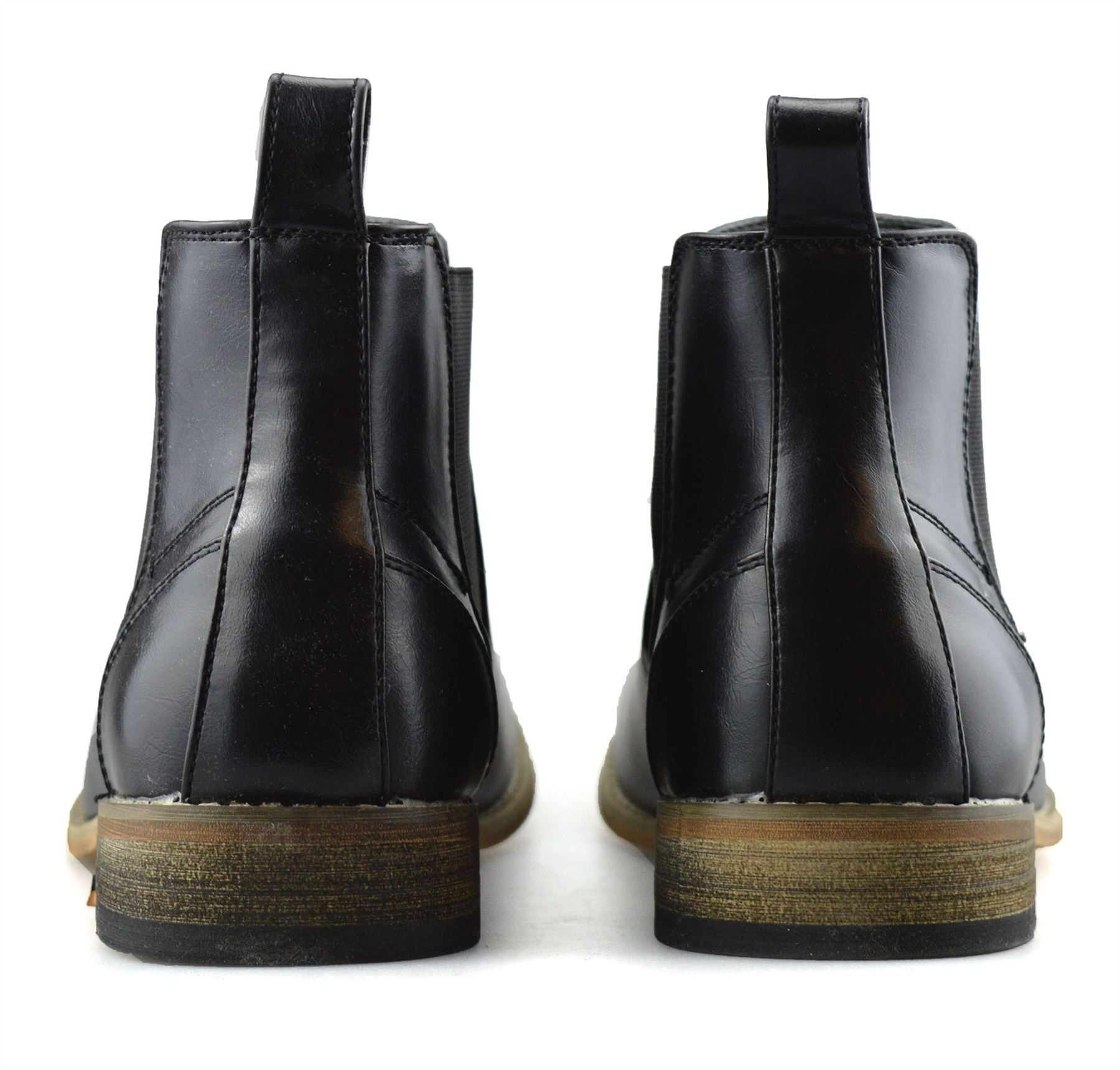 Mens-Memory-Foam-Chelsea-Ankle-Boots-Casual-Smart-Formal-Dealer-Work-Shoes-Size thumbnail 17