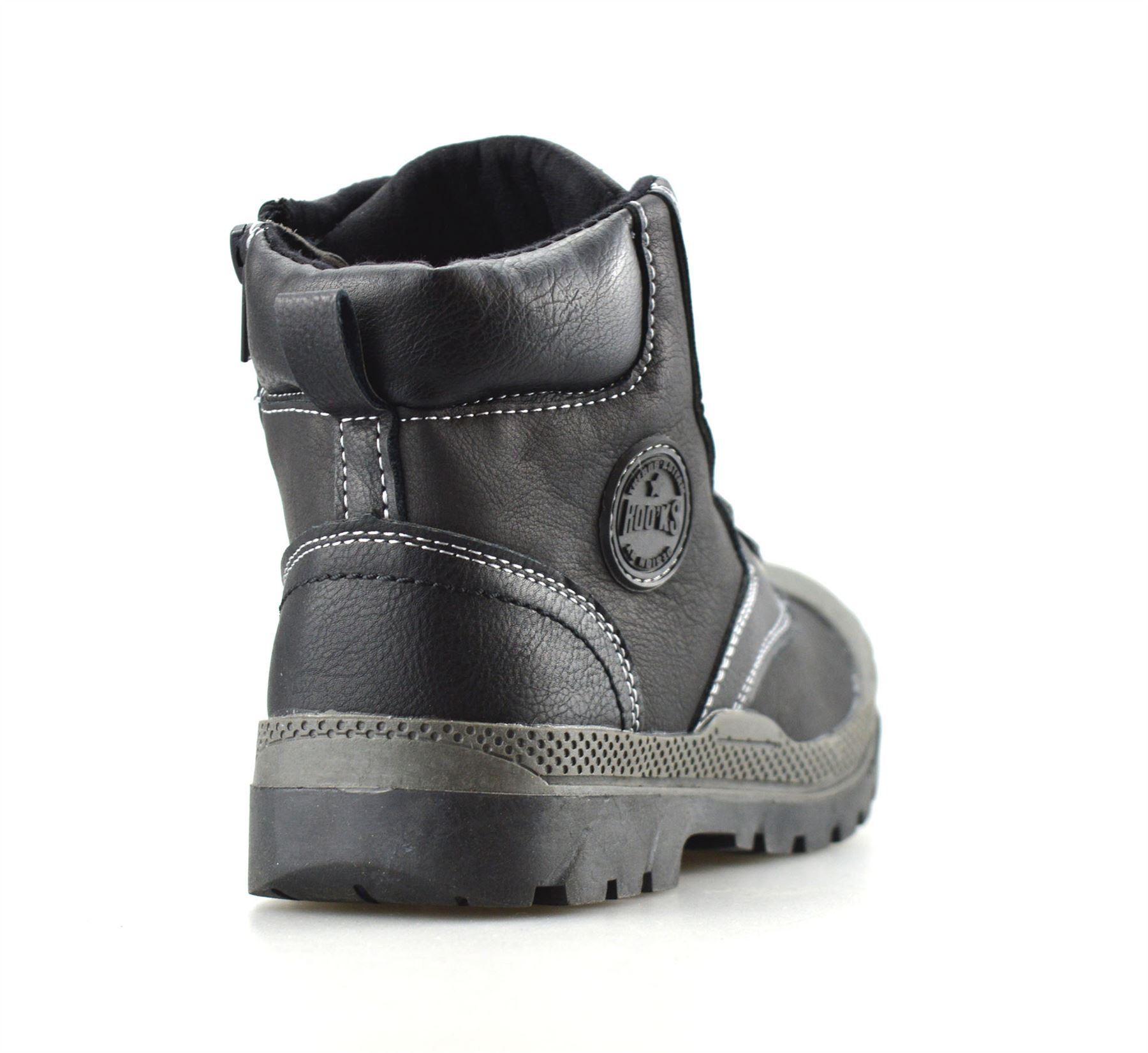 Boys Kids Infants Casual Zip Lace Up Winter Warm Ankle Boots Trainers Shoes Size