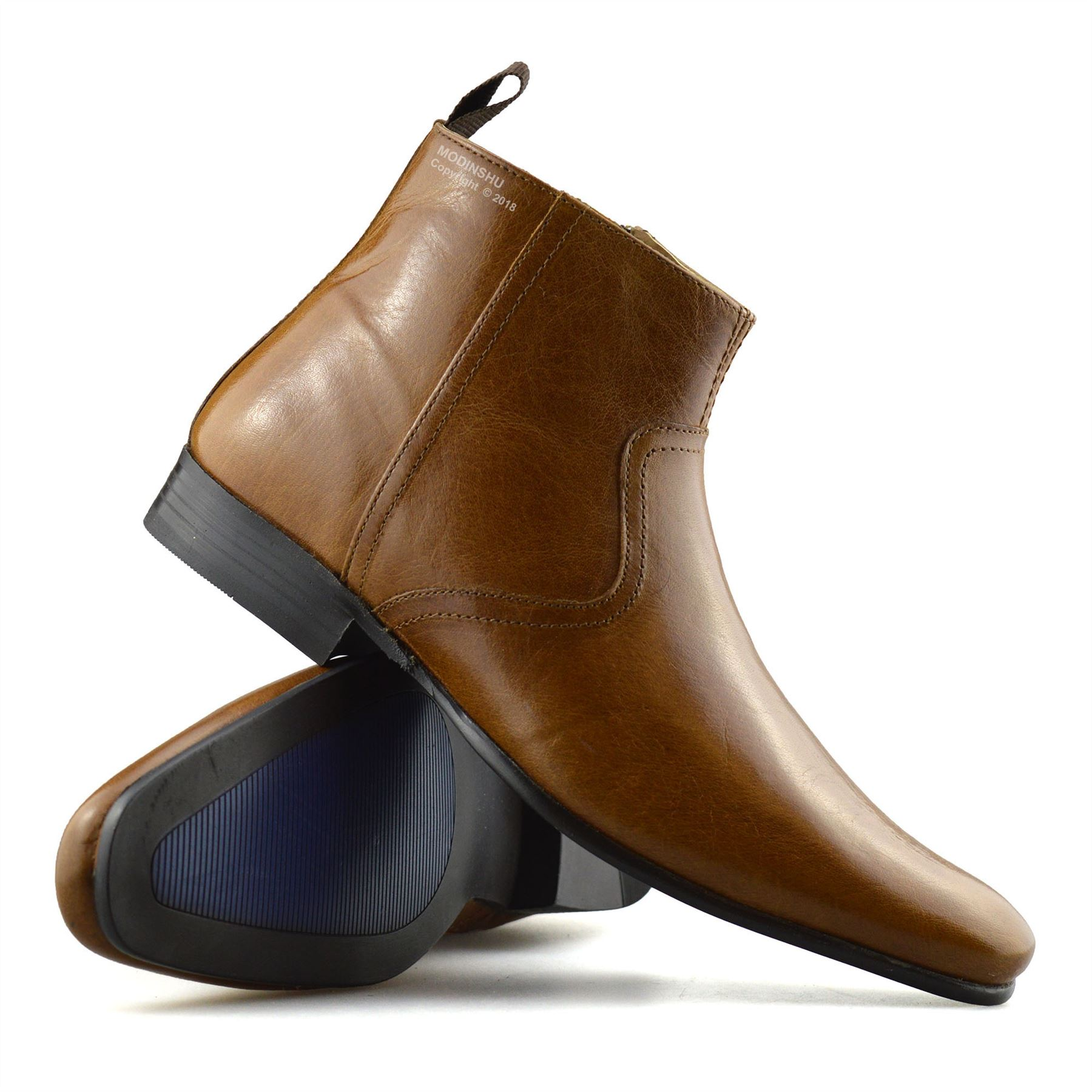 Mens-New-Leather-Zip-Up-Smart-Formal-Chelsea-Dealer-Work-Ankle-Boots-Shoes-Size thumbnail 27