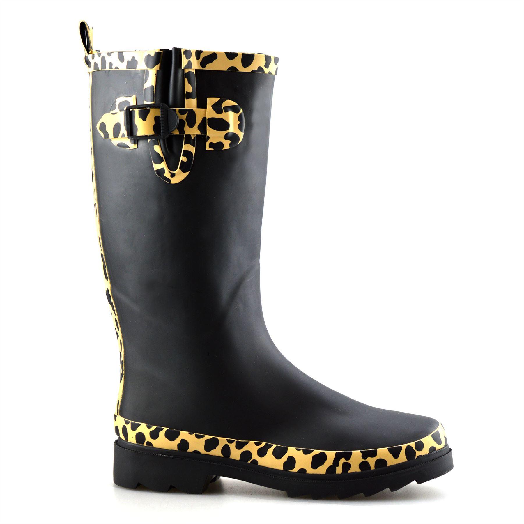 Womens Wellington Boots Festival Rain Snow Wellies Ladies Waterproof Shoes