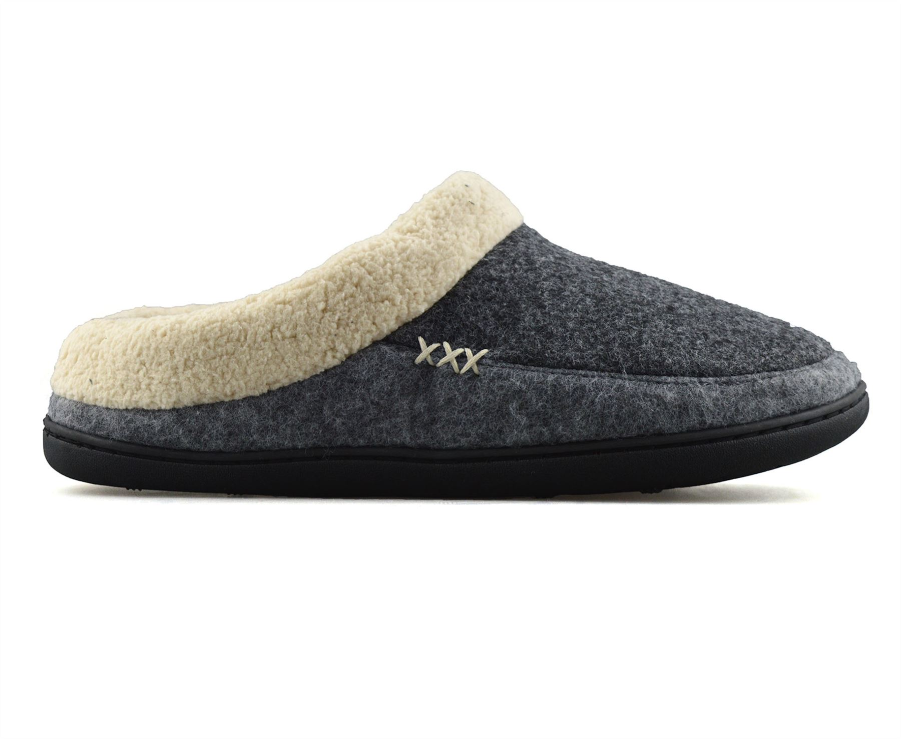Details about Mens Memory Foam Warm Faux Suede Fleece Slippers Slip On Clog Mules Shoes Size