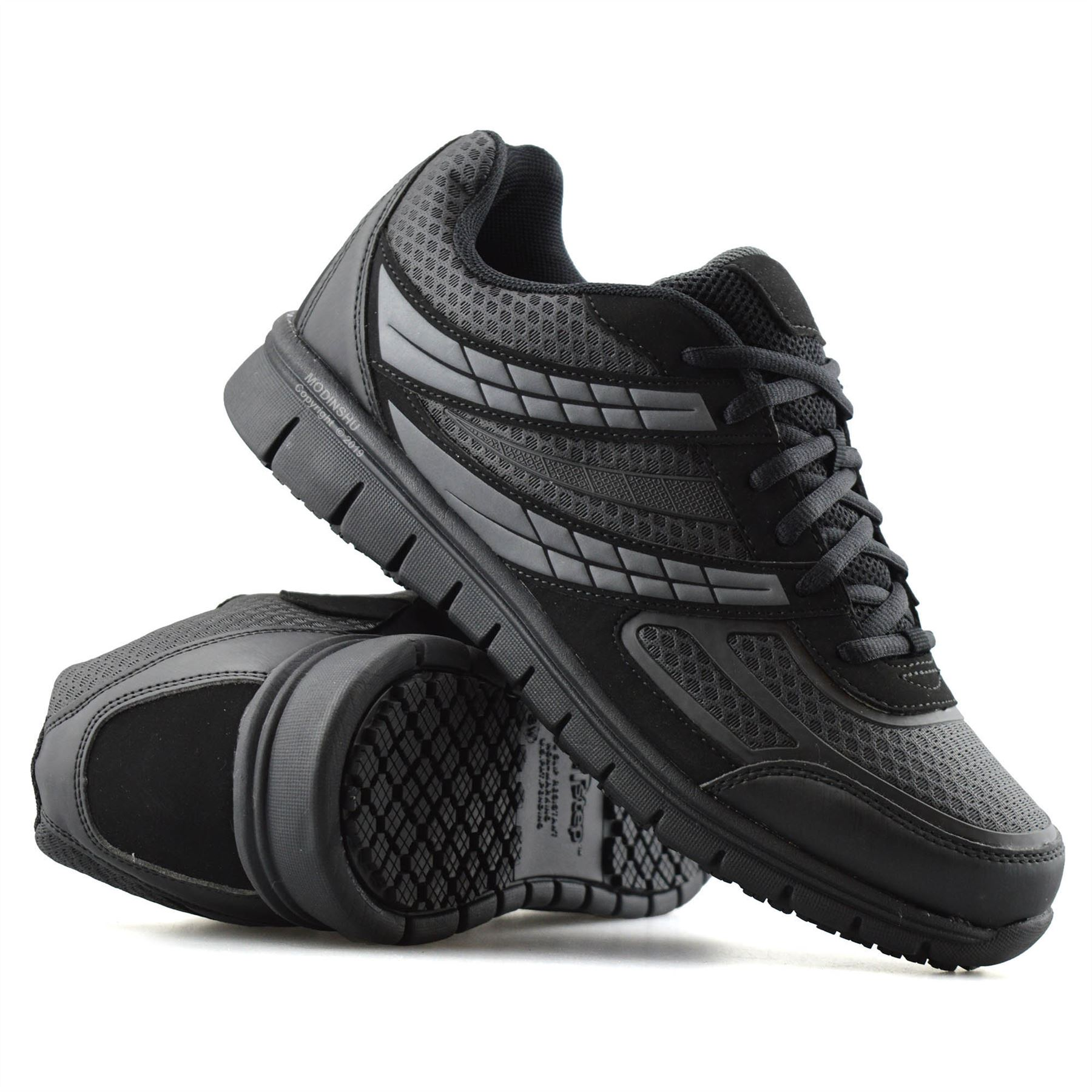 Mens-Casual-Lace-Up-Non-Slip-Memory-Foam-Walking-Hiking-Work-Trainers-Shoes-Size thumbnail 15