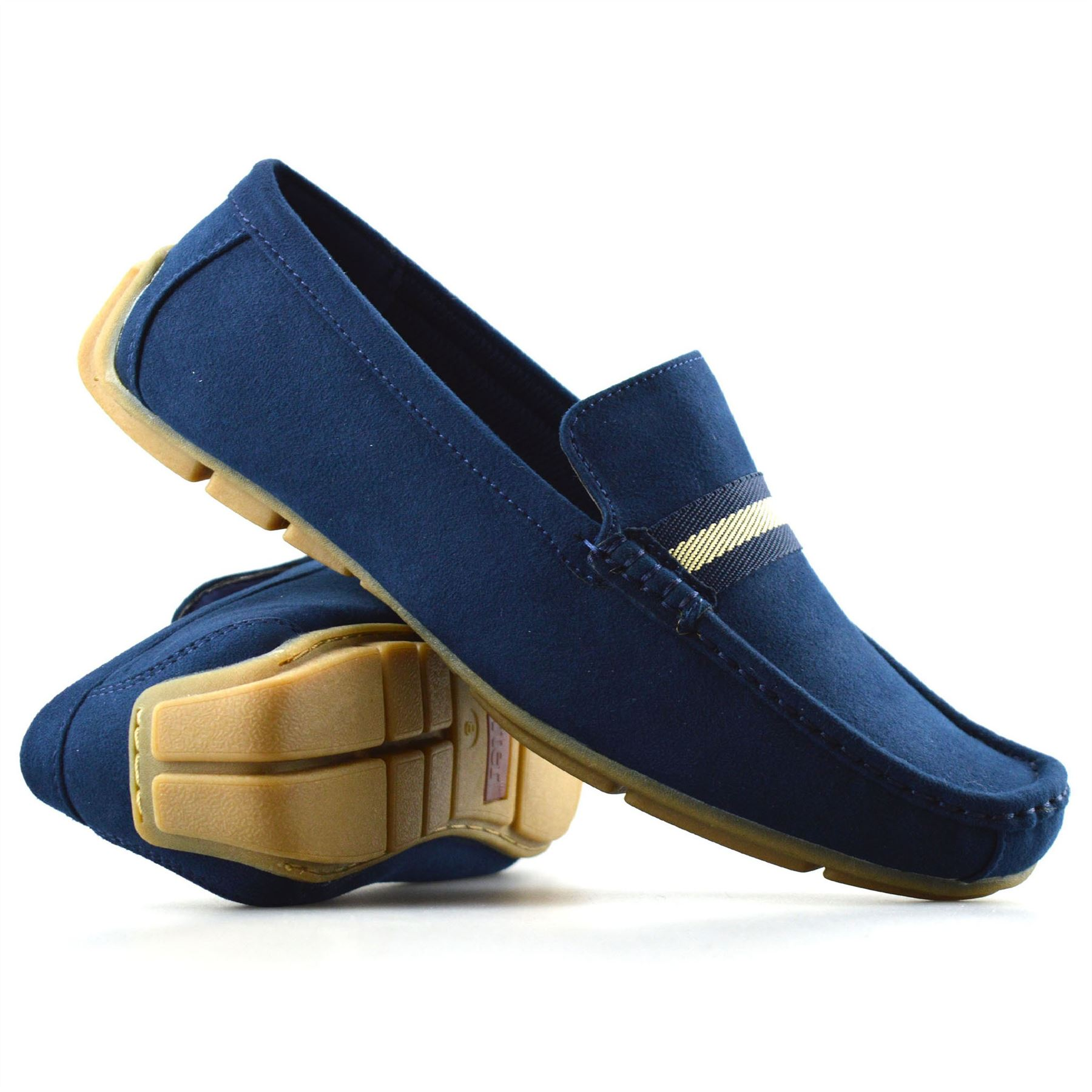 mens new leather suede slip on casual mocassin designer