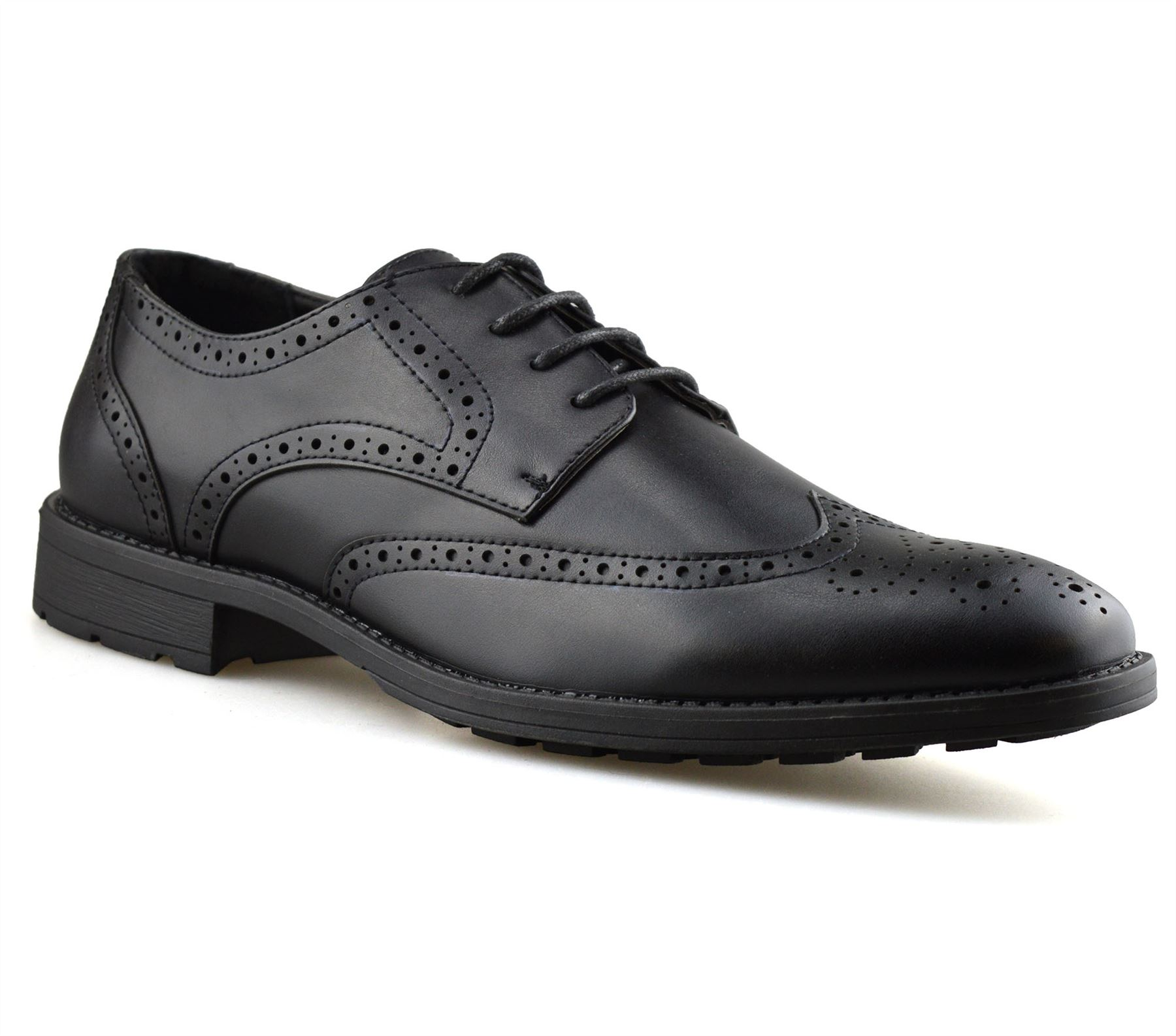 Mens-Smart-Casual-Lace-Up-Formal-Oxford-Brogues-Walking-Work-Office-Shoes-Size thumbnail 8