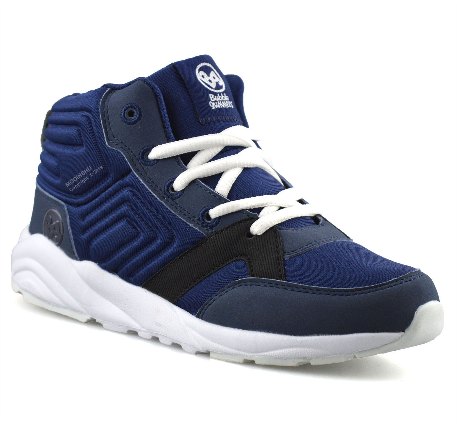 Boys Kids Childrens Casual Strap Hi Top Sports Trainers Ankle Boots Shoes Size
