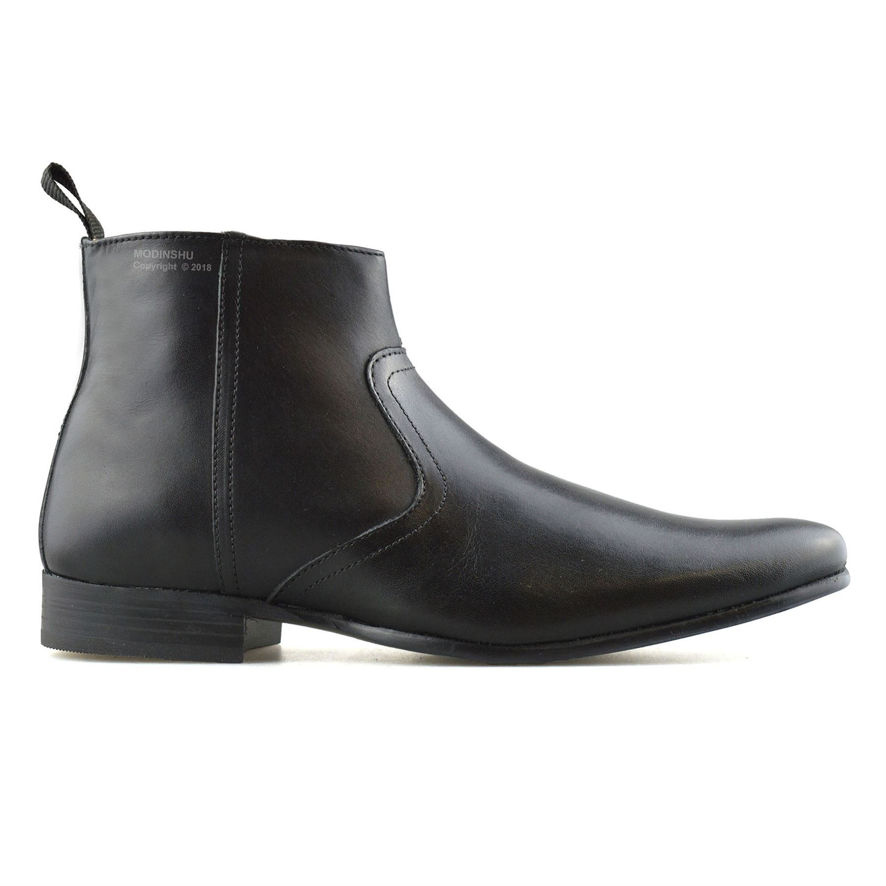 Mens-New-Leather-Zip-Up-Smart-Formal-Chelsea-Dealer-Work-Ankle-Boots-Shoes-Size thumbnail 11