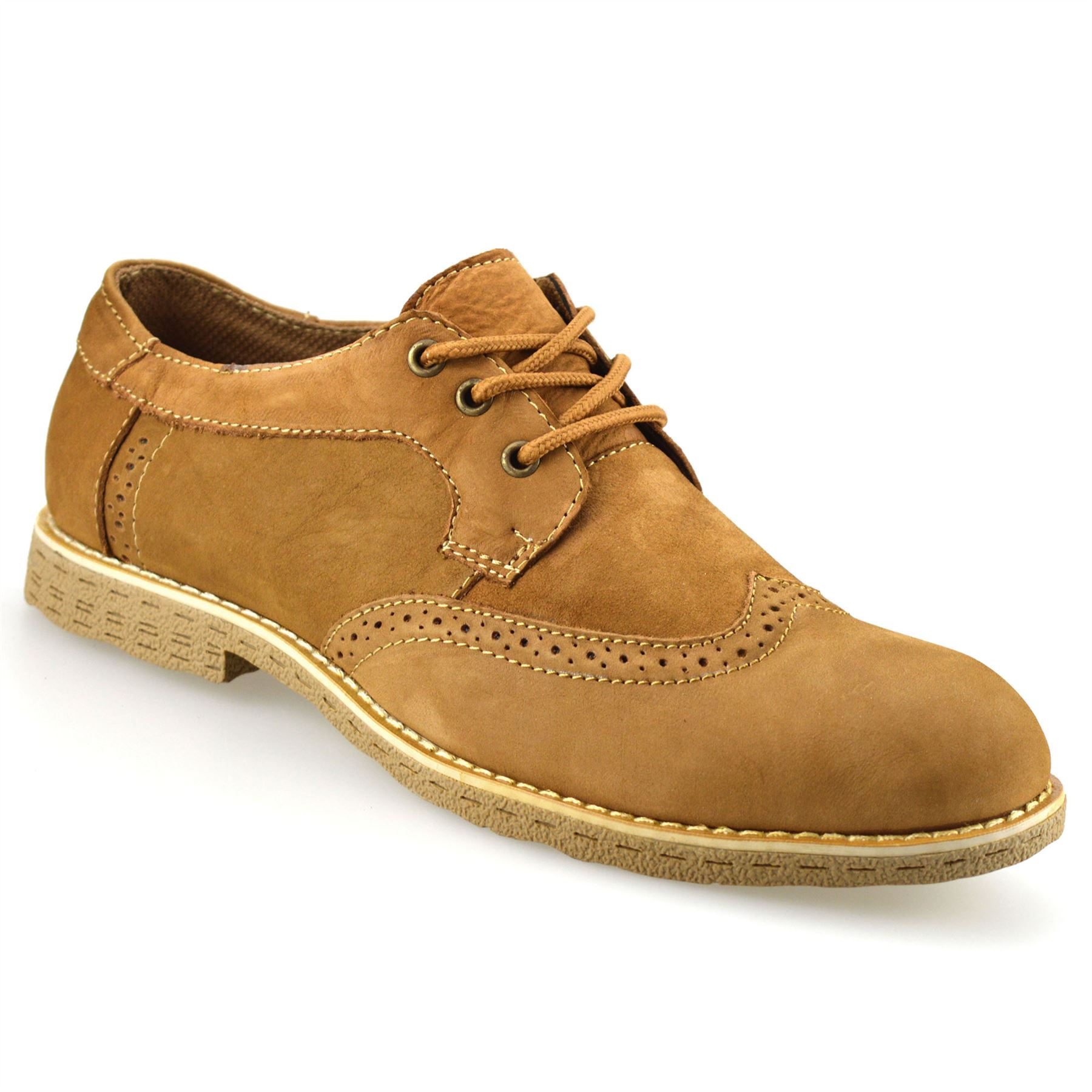 Mens Leather Lace Up Brogues Formal