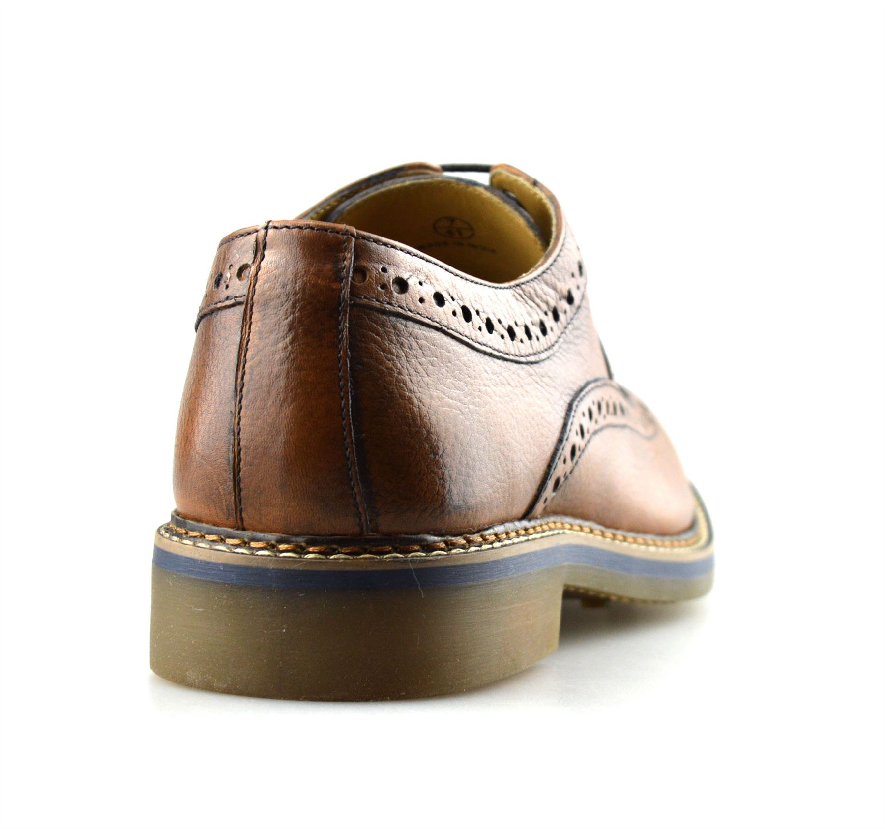 Mens-New-Ikon-Leather-Casual-Smart-Lace-Up-Oxford-Brogues-Work-Office-Shoes-Size thumbnail 15