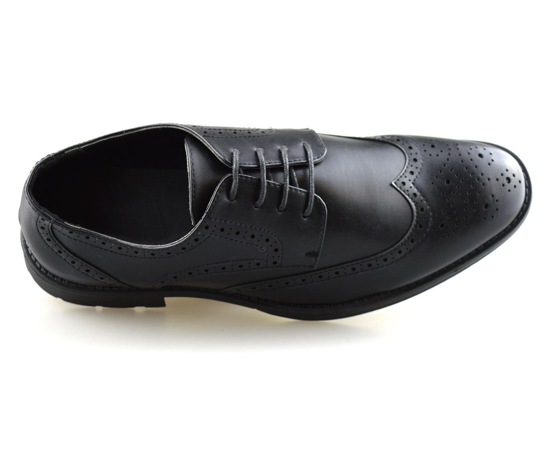 Mens-Smart-Casual-Lace-Up-Formal-Oxford-Brogues-Walking-Work-Office-Shoes-Size thumbnail 12