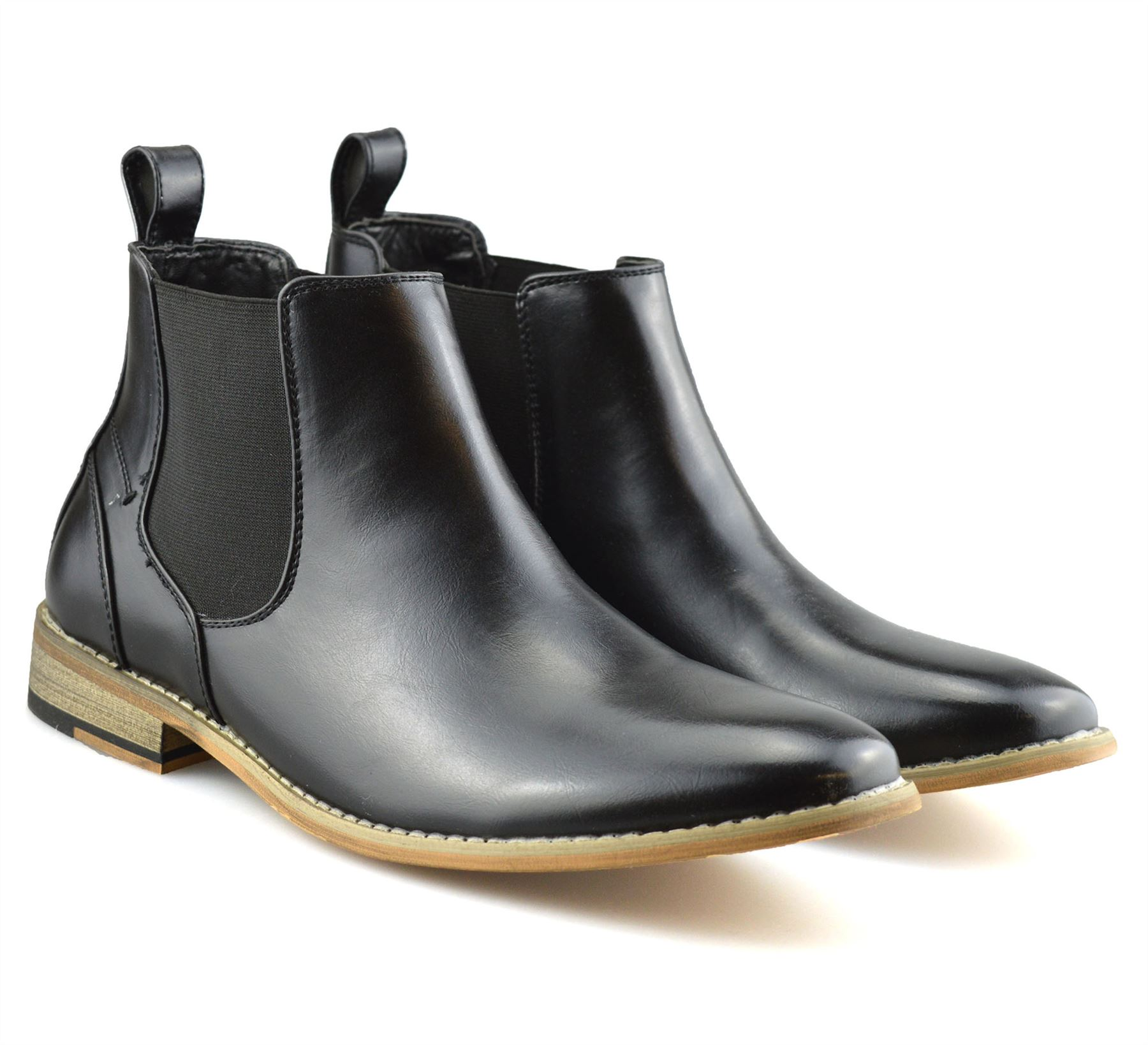 Mens-Memory-Foam-Chelsea-Ankle-Boots-Casual-Smart-Formal-Dealer-Work-Shoes-Size thumbnail 18
