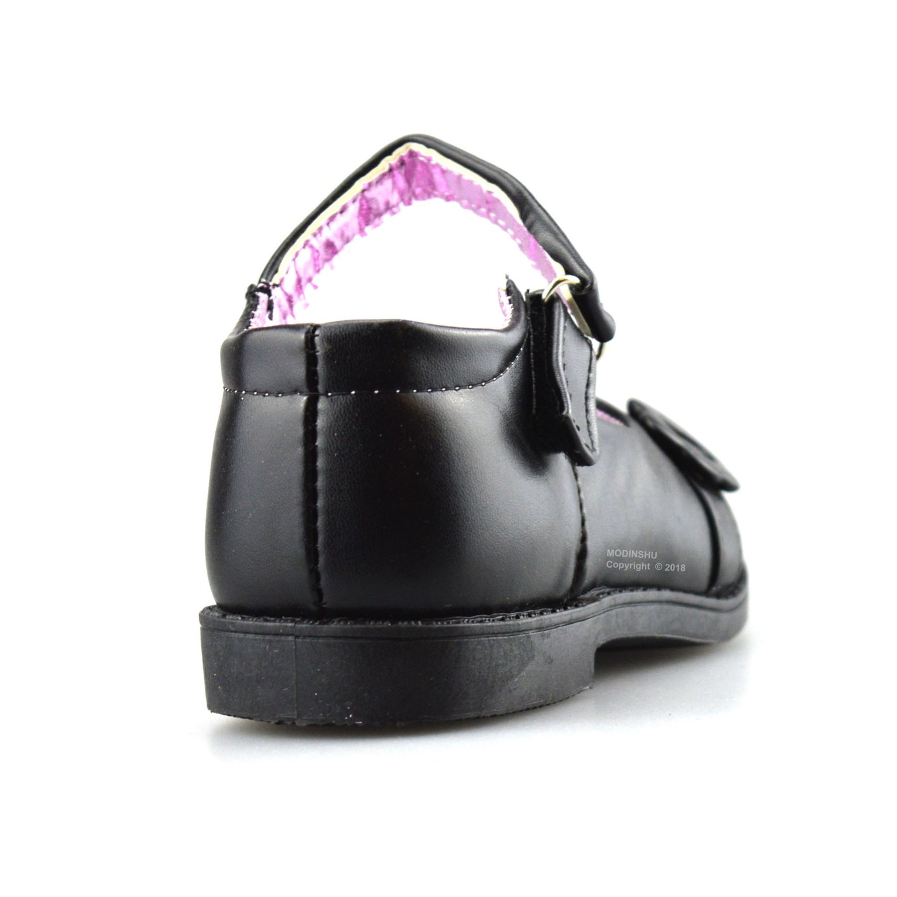 GIRLS KIDS BLACK BACK TO SCHOOL SHOES MARY JANE FORMAL CASUAL PARTY SIZE/'S 6-5