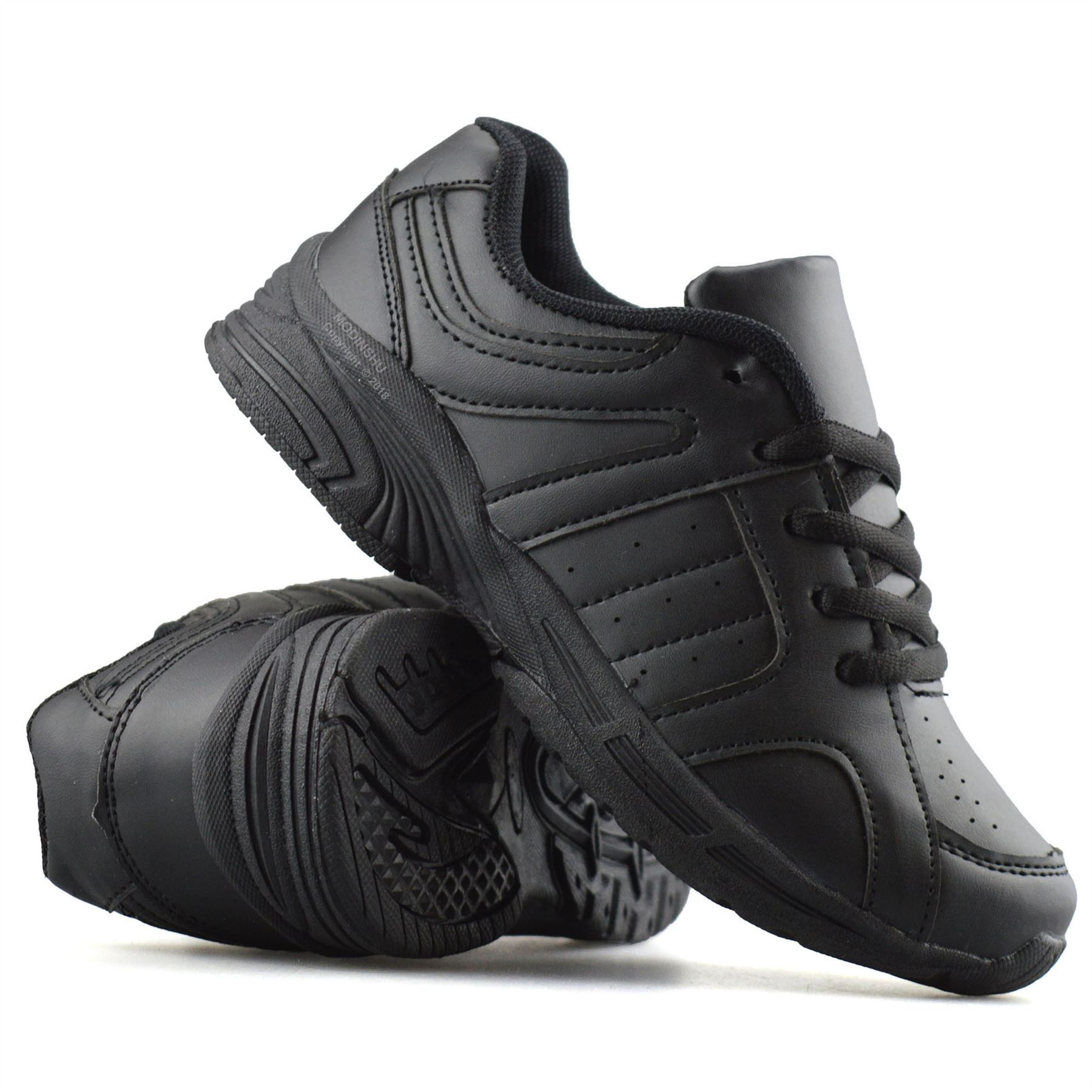 Boys-Kids-Casual-Smart-Formal-Lace-Up-Back-To-School-Sports-Trainers-Shoes-Size thumbnail 12