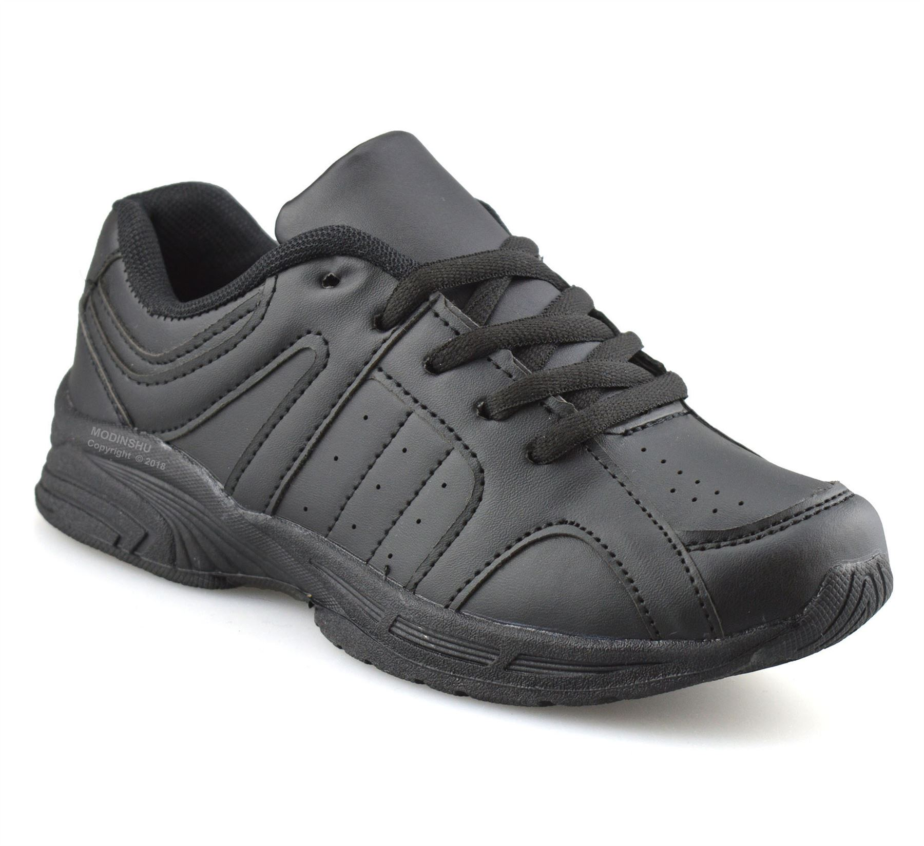 Boys-Kids-Casual-Smart-Formal-Lace-Up-Back-To-School-Sports-Trainers-Shoes-Size thumbnail 8