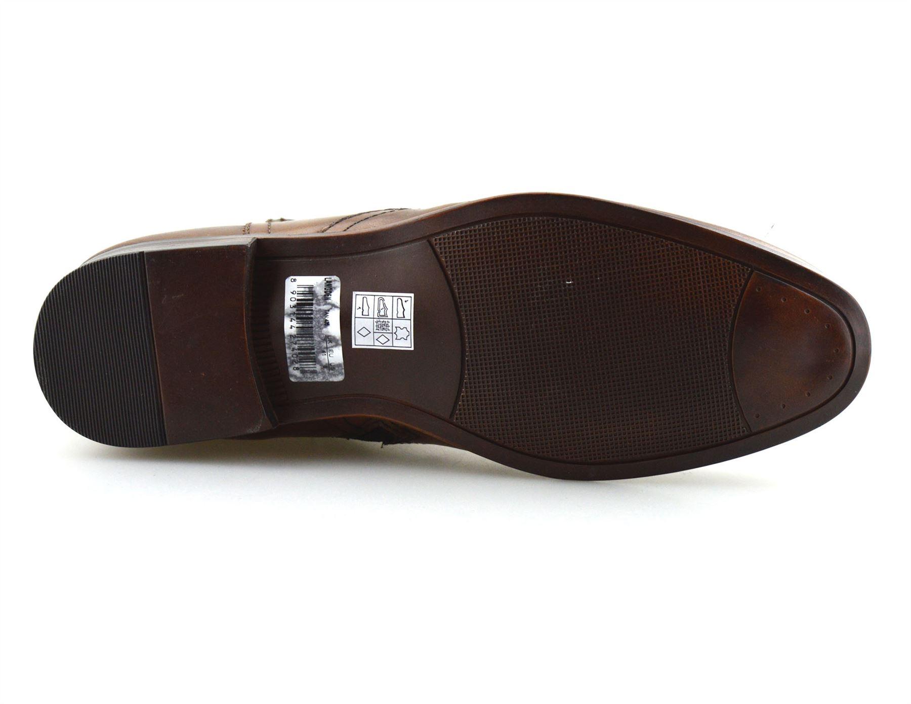 Hombre-Nuevo-Cuero-Cremallera-Formal-Smart-Trabajo-Distribuidor-Chelsea-Botas-al-Tobillo-Zapatos miniatura 22
