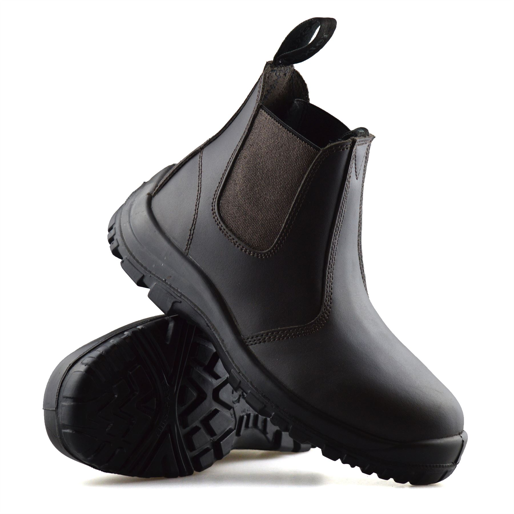 Mens-Leather-Wide-Fit-Chelsea-Ankle-Boots-Casual-Smart-Dealer-Work-Shoes-Size thumbnail 13