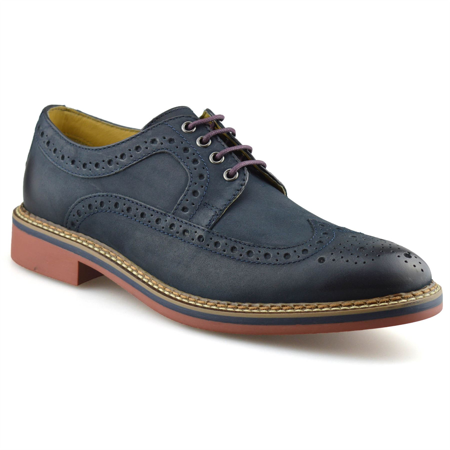 Mens-New-Ikon-Leather-Casual-Smart-Lace-Up-Oxford-Brogues-Work-Office-Shoes-Size thumbnail 19