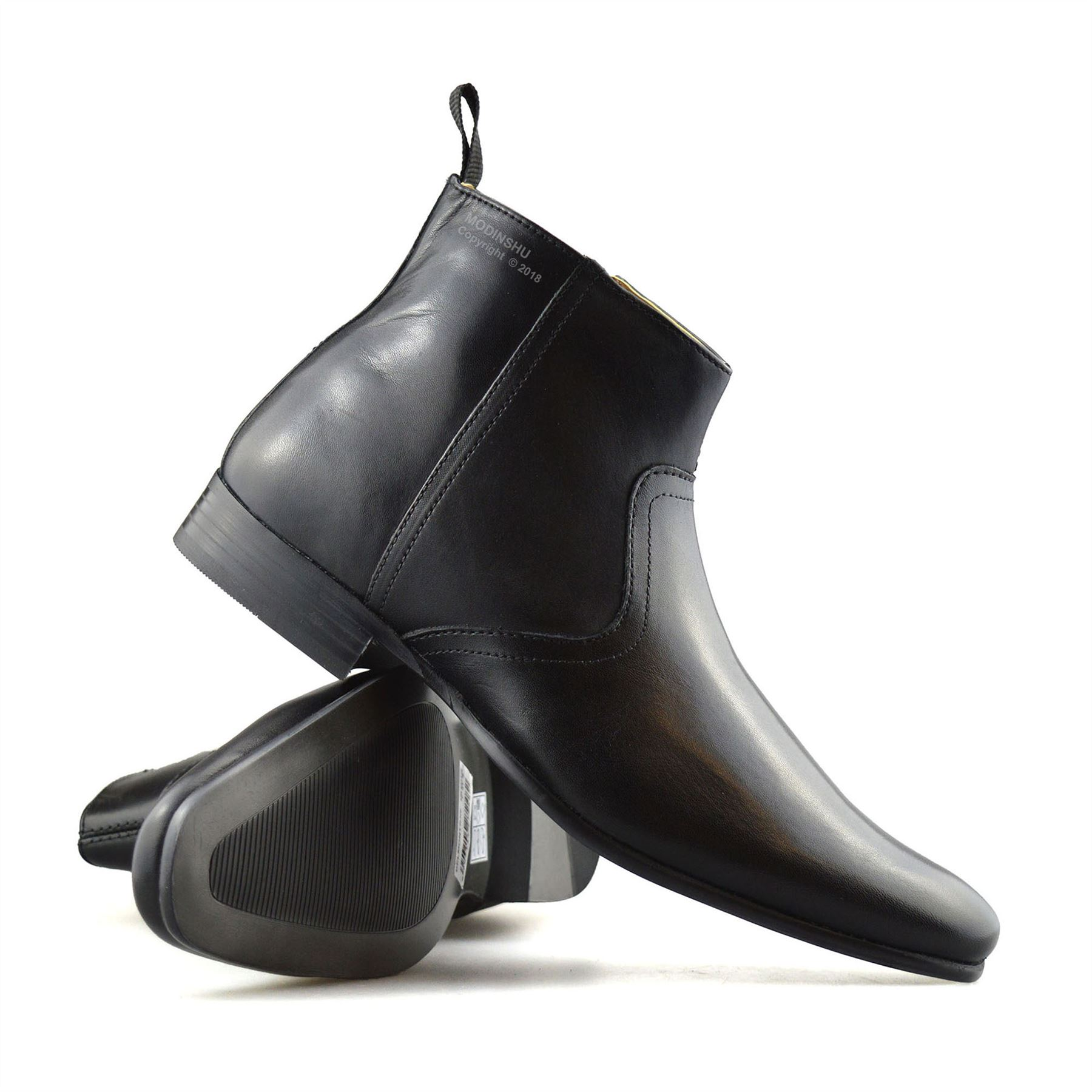Mens-New-Leather-Zip-Up-Smart-Formal-Chelsea-Dealer-Work-Ankle-Boots-Shoes-Size thumbnail 15