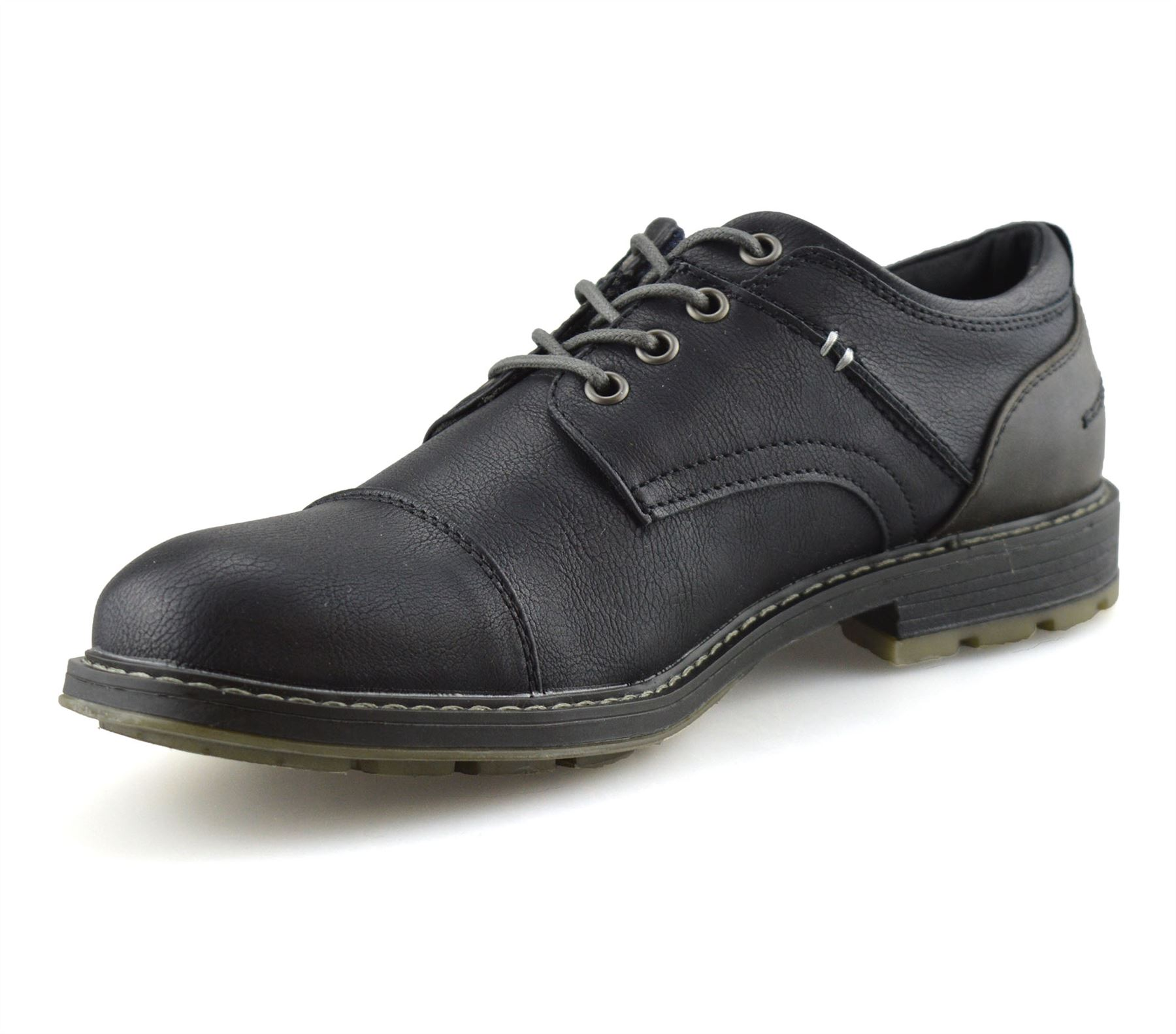 Mens-Smart-Casual-Comfort-Lace-Up-Work-Office-Formal-Derby-Toe-Cap-Shoes-Size thumbnail 12