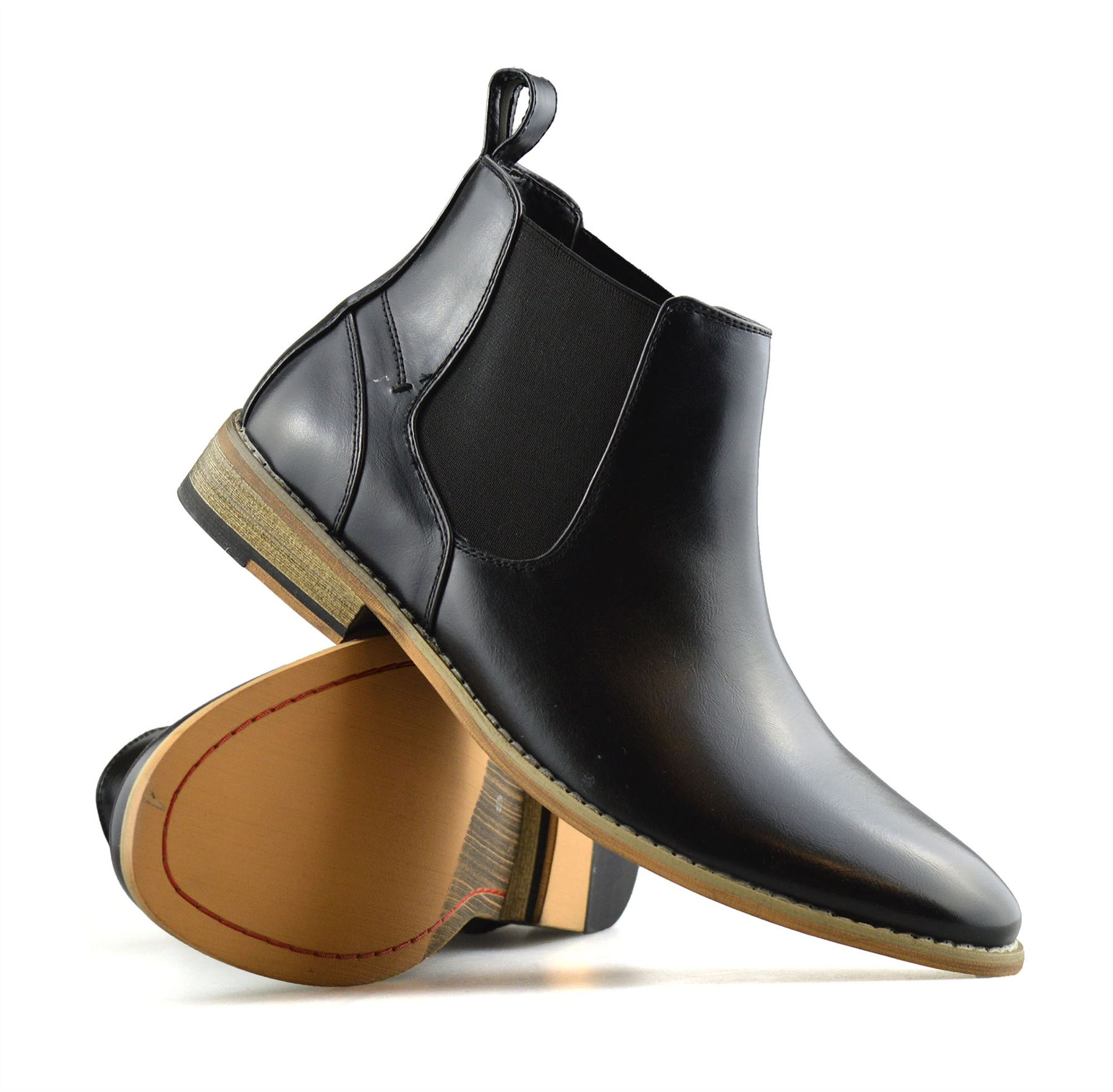 Mens-Memory-Foam-Chelsea-Ankle-Boots-Casual-Smart-Formal-Dealer-Work-Shoes-Size thumbnail 15
