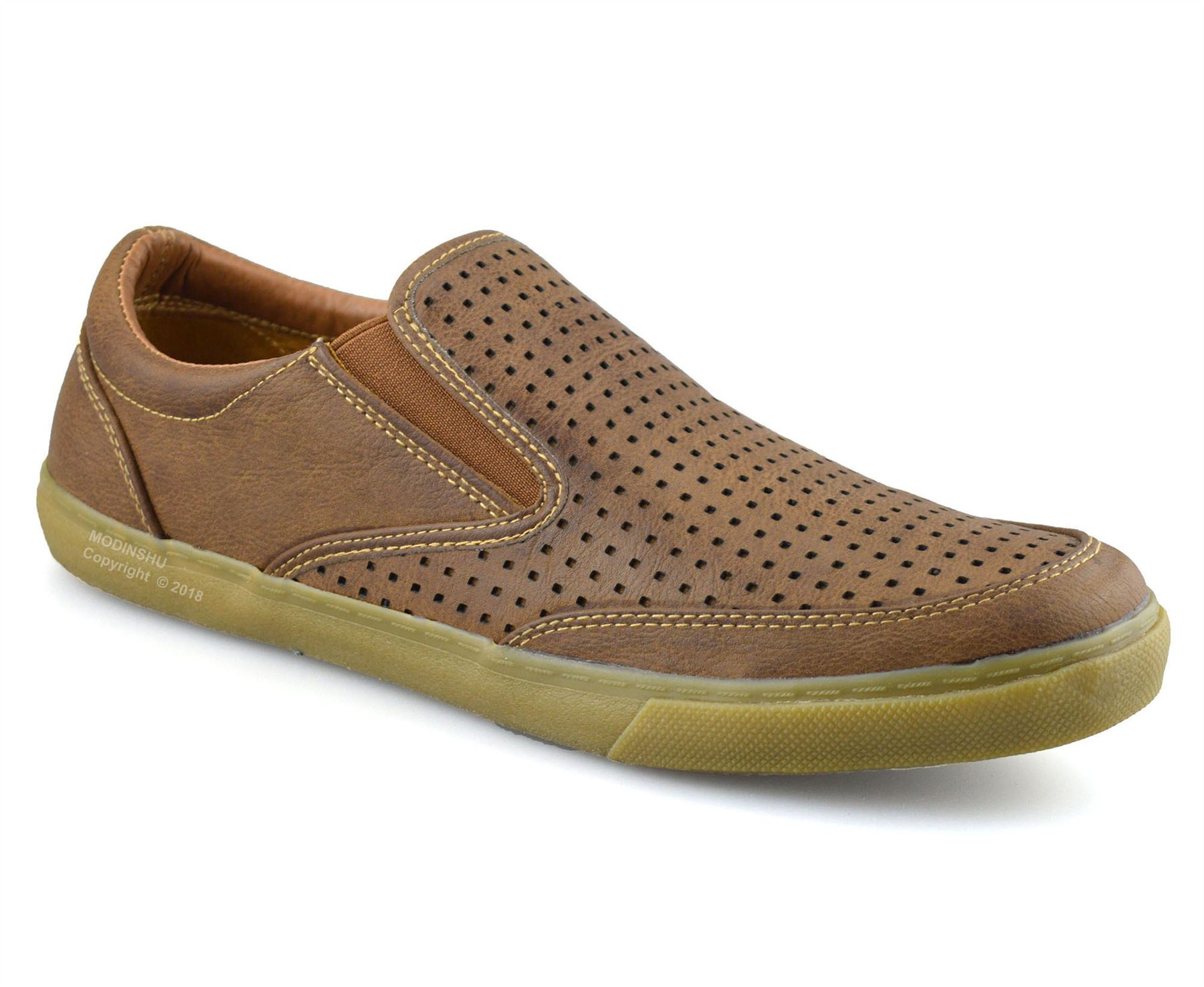 Mens-Casual-Smart-Slip-On-Walking-Moccasin-Loafers-Driving-Deck-Boat-Shoes-Size thumbnail 9