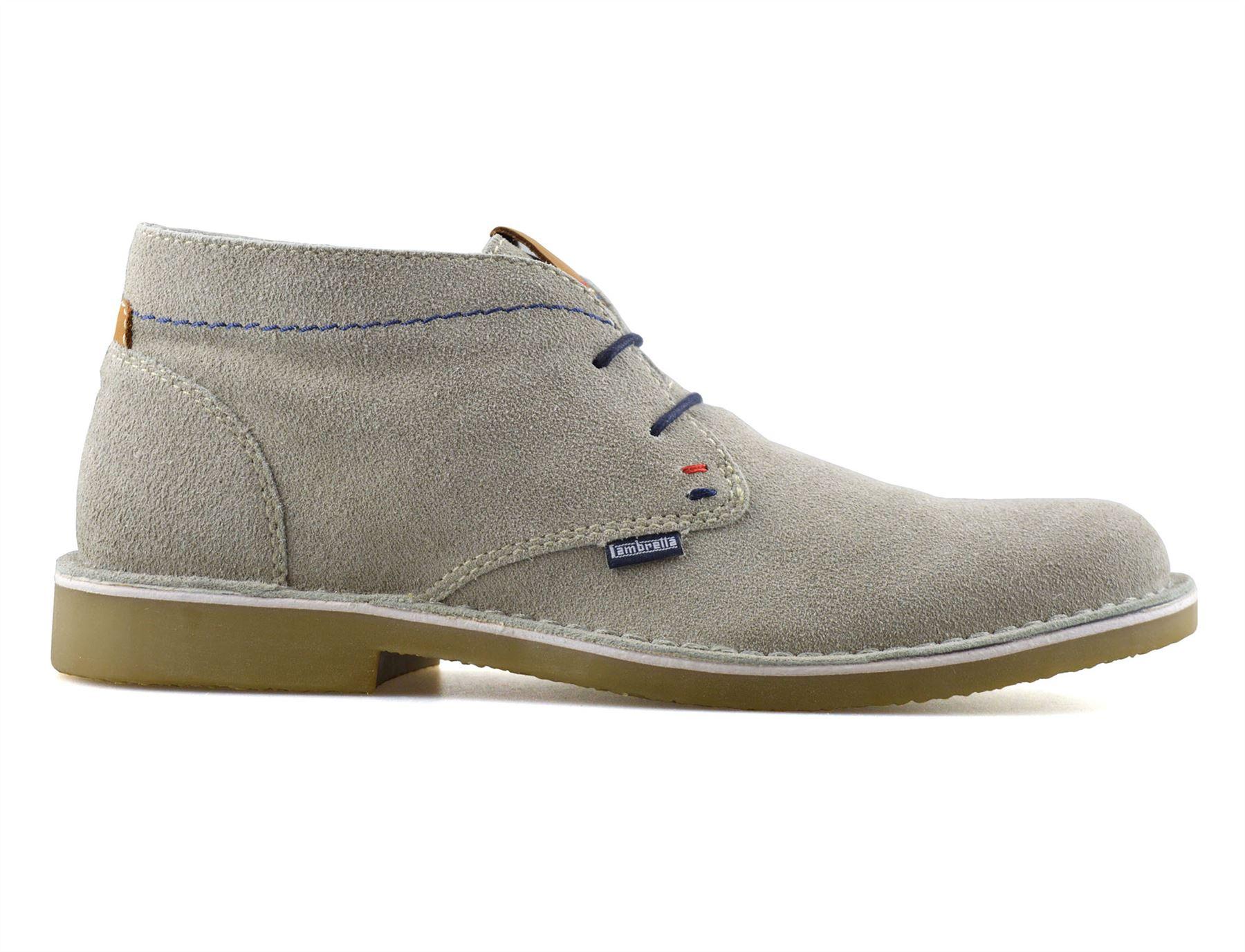 Homme-Lambretta-Cuir-Daim-Decontracte-Chukka-a-Lacets-Desert-Bottes-Chaussures-Taille miniature 8
