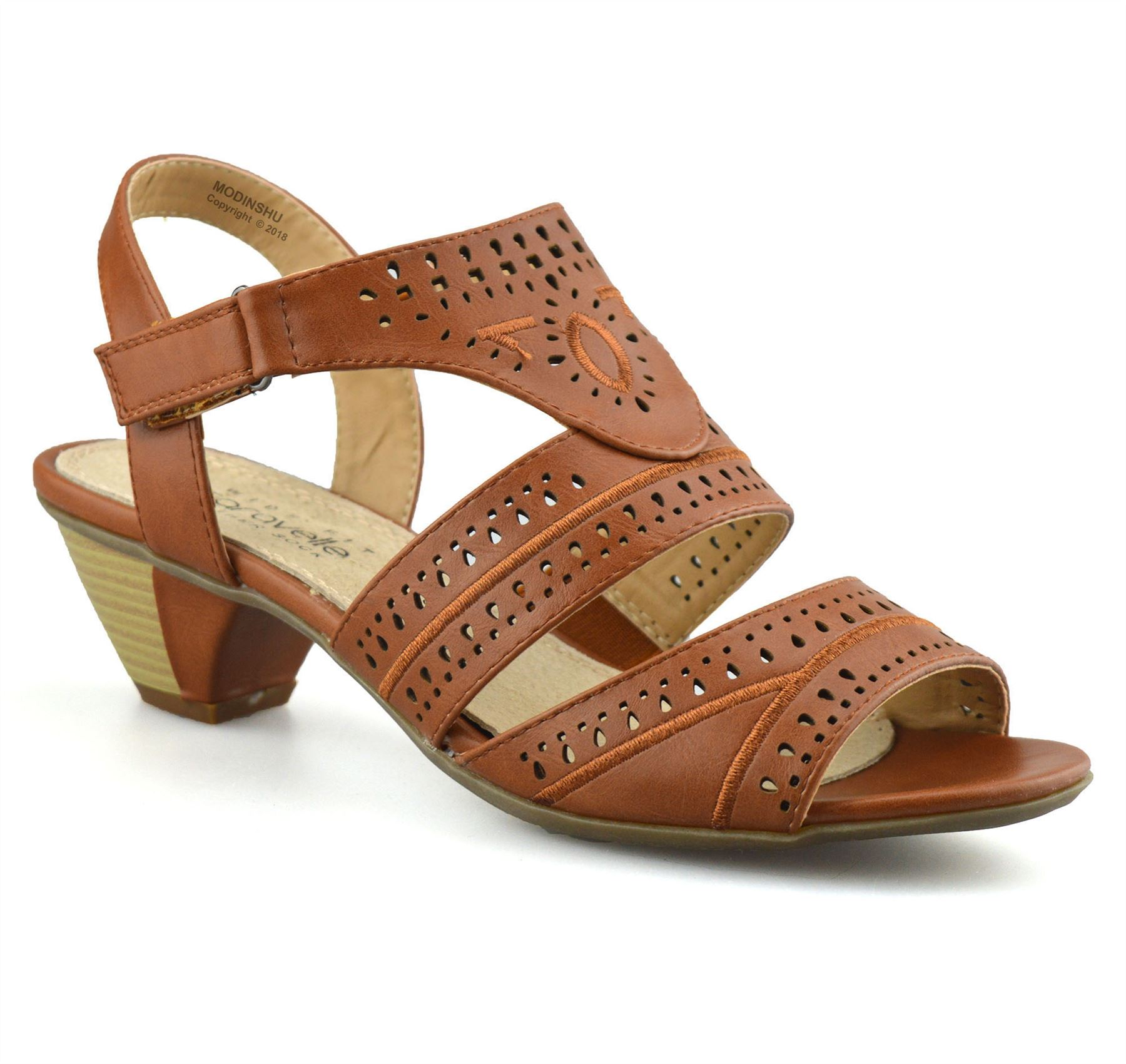 Ladies-Womens-Mid-Wedge-Heel-Wide-Fit-Casual-Comfort-Walking-Sandals-Shoes-Size