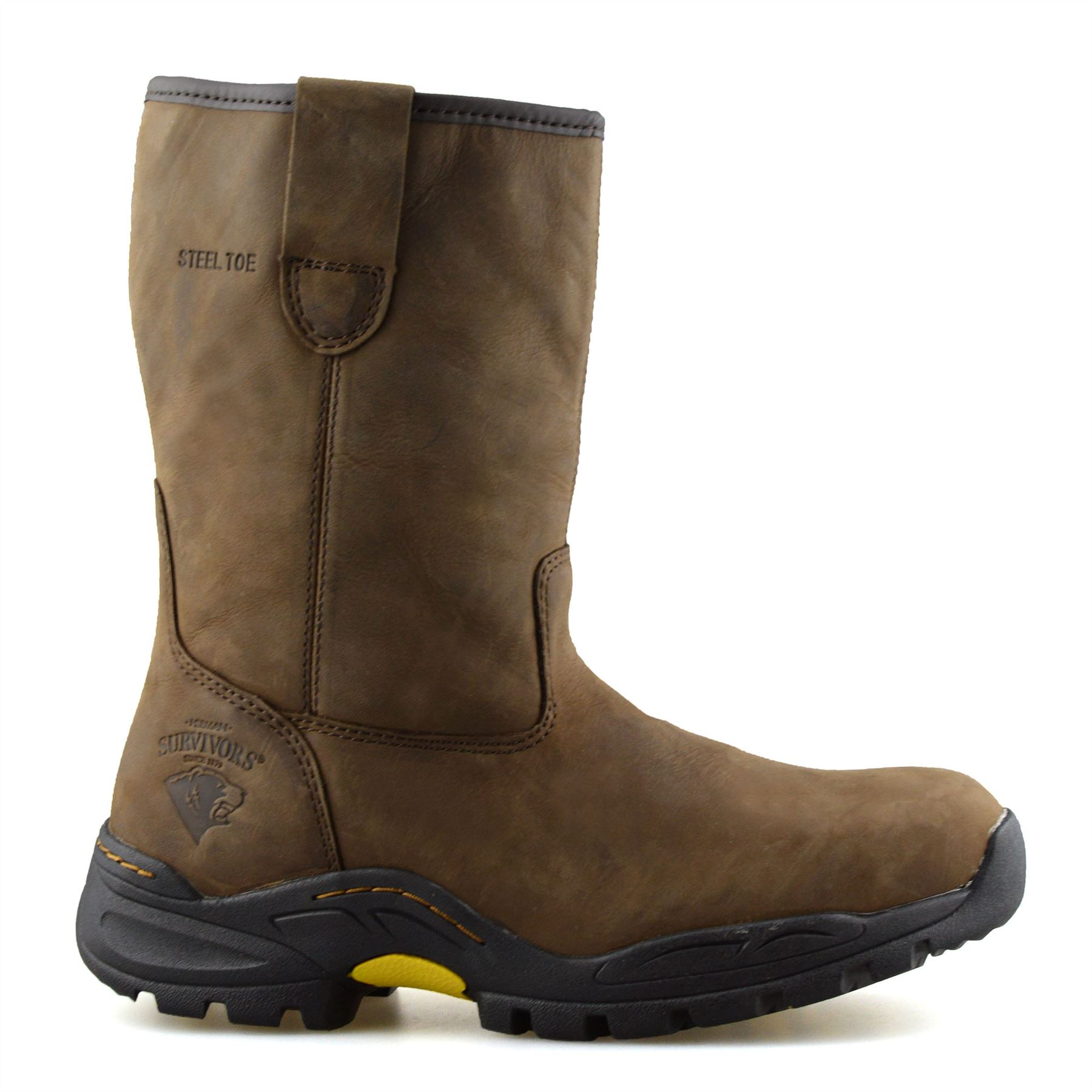Neptune Lined Rigger Wellington safety boot steel toe and midsole FW75