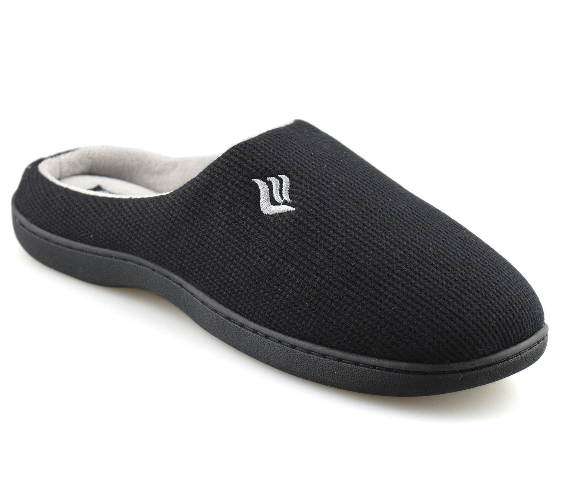 Mens-Memory-Foam-Warm-Fleece-Lined-Cotton-Slippers-Slip-On-Clog-Mules-Shoes-Size thumbnail 12