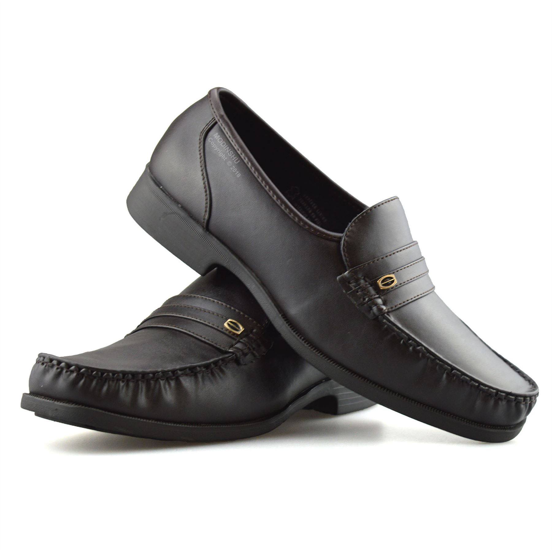 Mens-New-Slip-On-Casual-Smart-Memory-Foam-Mocassin-Designer-Loafers-Shoes-Size thumbnail 25