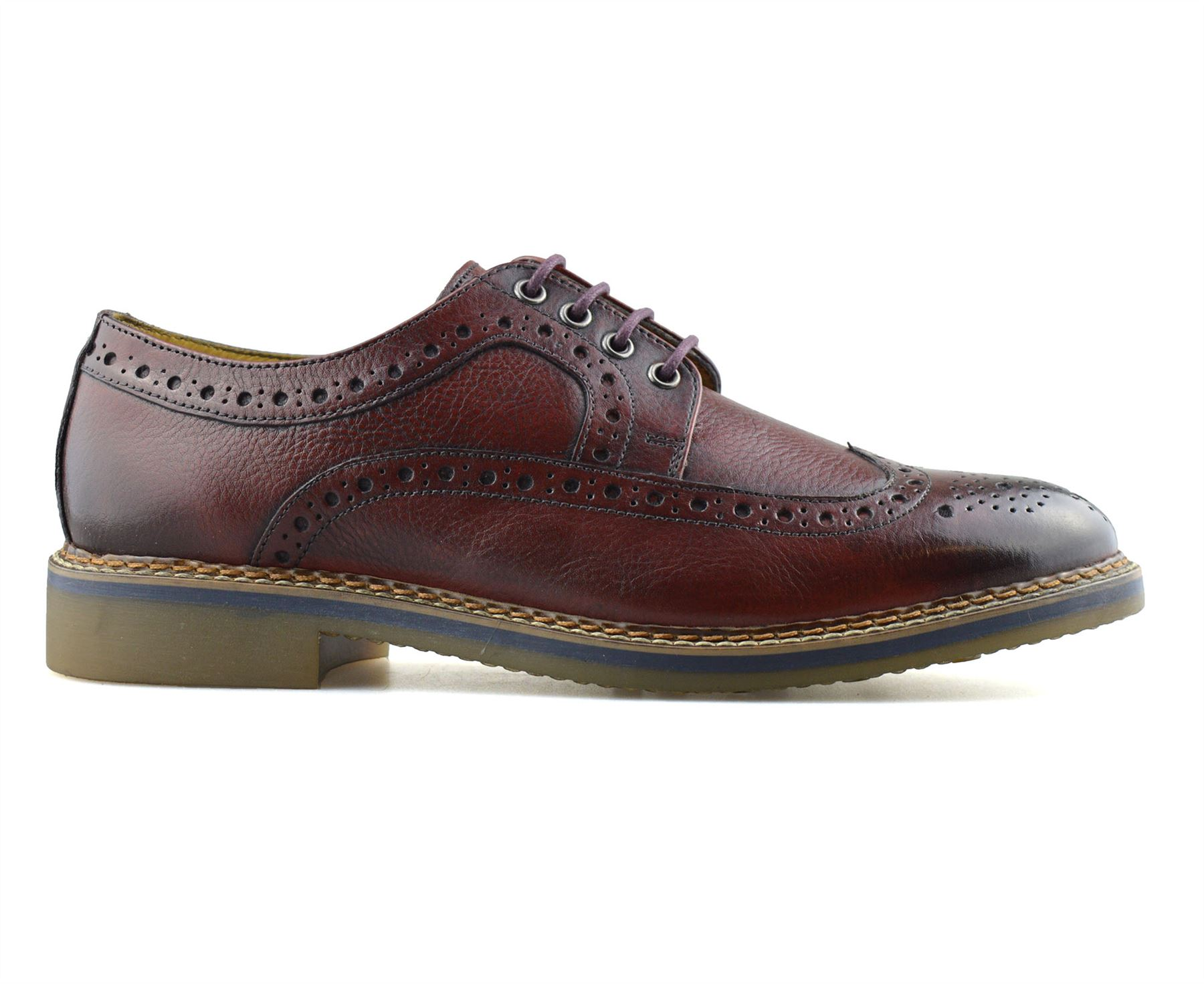 Mens-New-Ikon-Leather-Casual-Smart-Lace-Up-Oxford-Brogues-Work-Office-Shoes-Size thumbnail 26