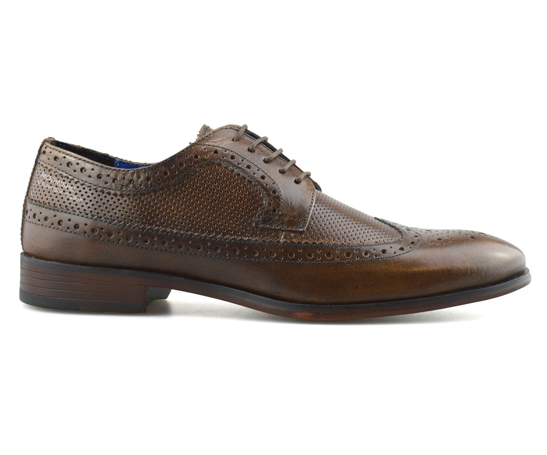 Mens-Leather-Brogues-Smart-Casual-Formal-Office-Lace-Up-Oxford-Brogue-Shoes-Size thumbnail 20