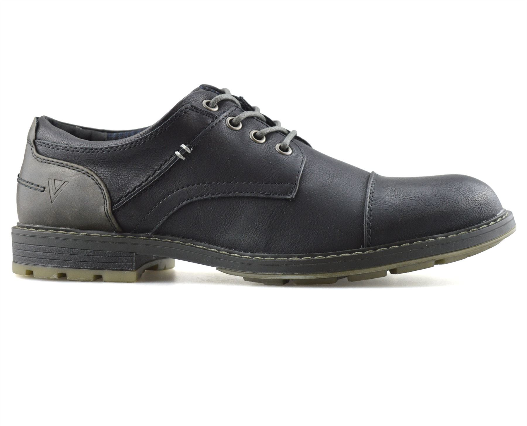 Mens-Smart-Casual-Comfort-Lace-Up-Work-Office-Formal-Derby-Toe-Cap-Shoes-Size thumbnail 9