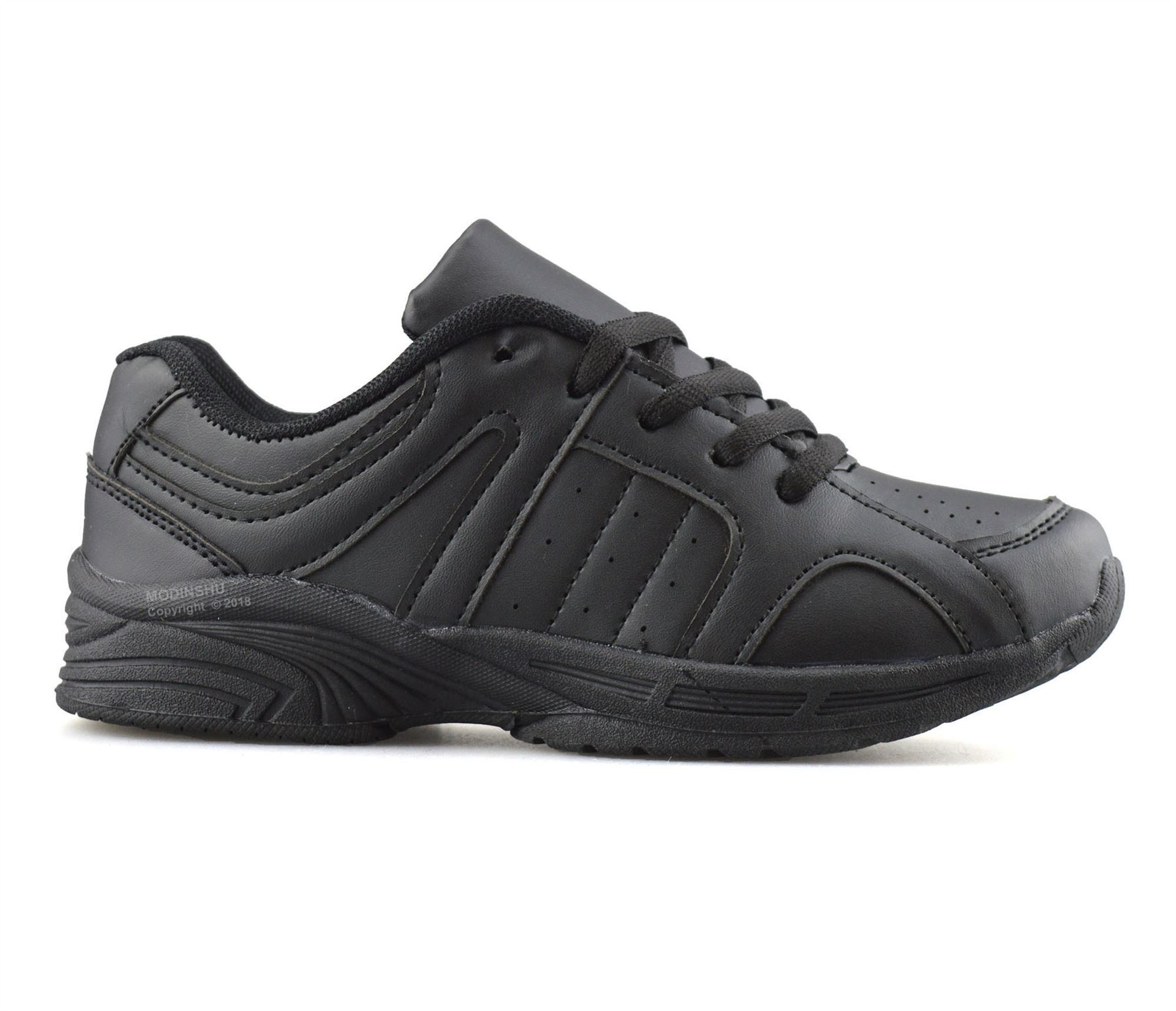 Boys-Kids-Casual-Smart-Formal-Lace-Up-Back-To-School-Sports-Trainers-Shoes-Size thumbnail 9
