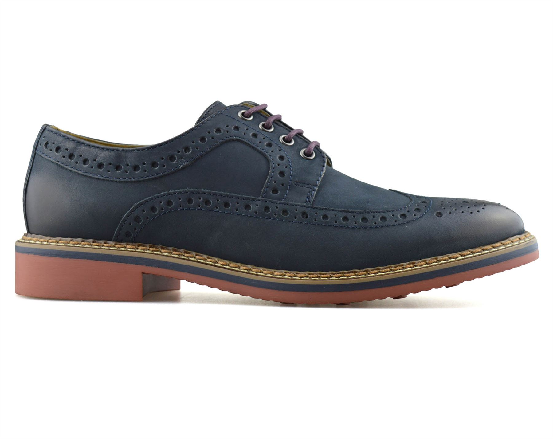 Mens-New-Ikon-Leather-Casual-Smart-Lace-Up-Oxford-Brogues-Work-Office-Shoes-Size thumbnail 20