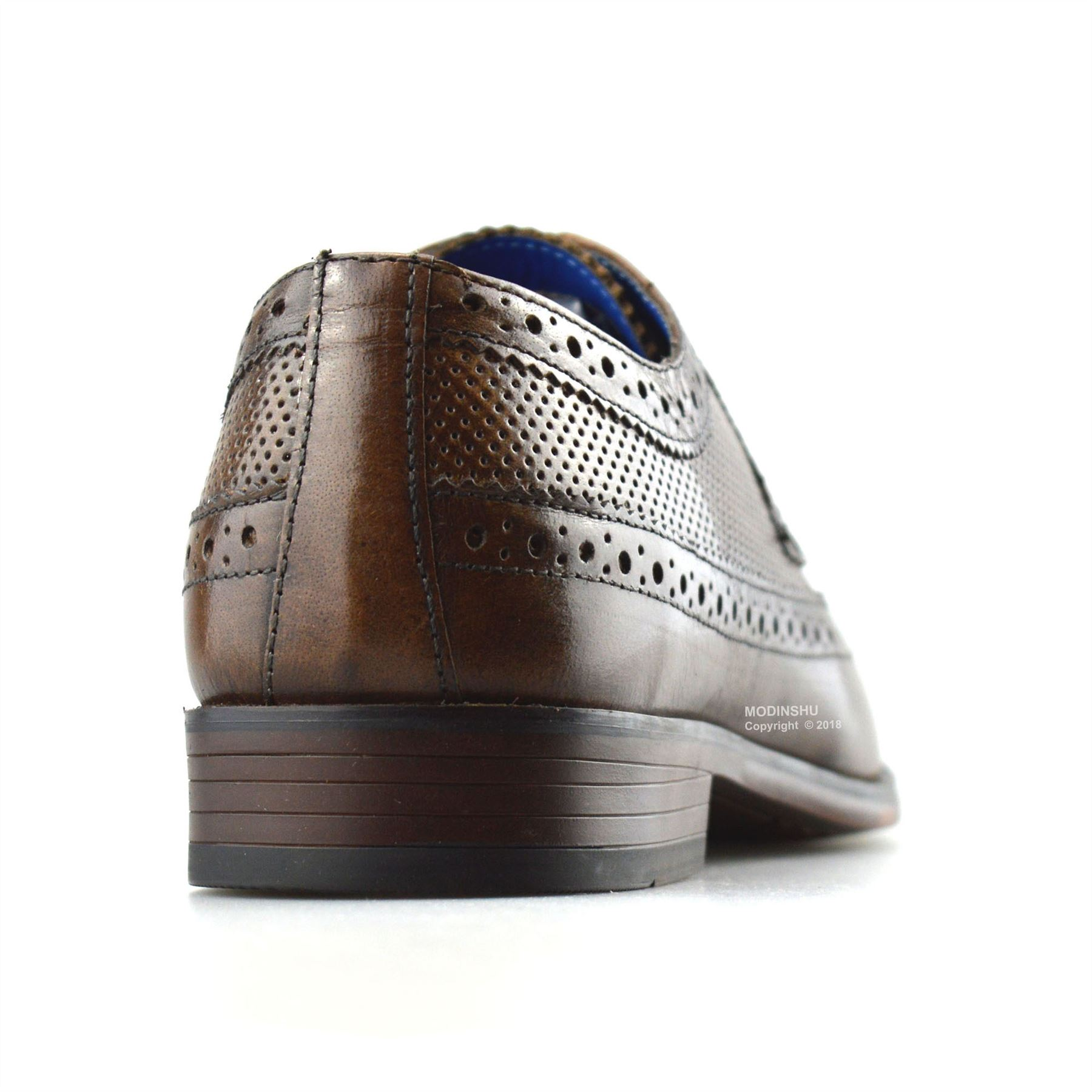 Mens-Leather-Brogues-Smart-Casual-Formal-Office-Lace-Up-Oxford-Brogue-Shoes-Size thumbnail 21