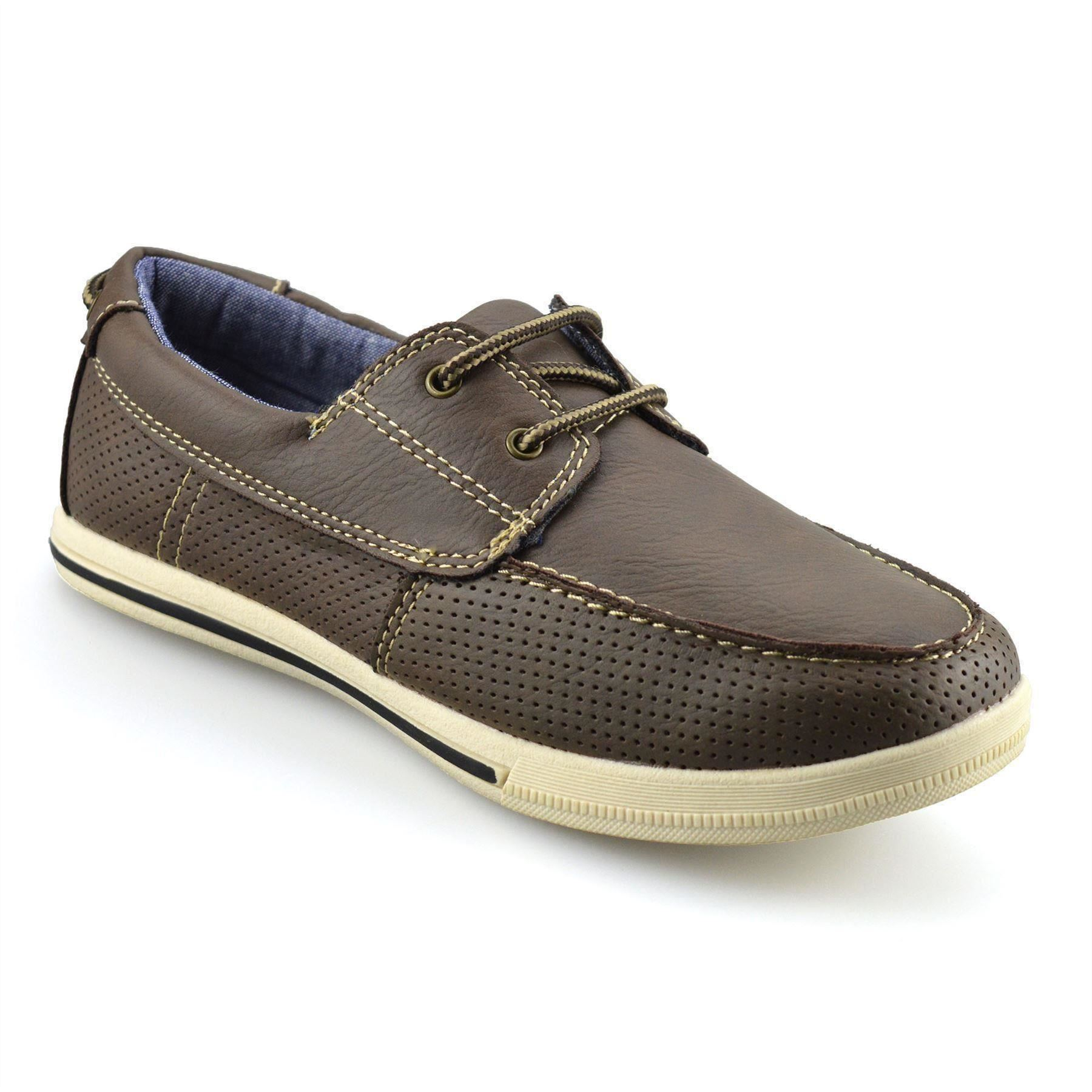 Boys-Kids-Casual-Summer-Lace-Up-Smart-Walking-School-Trainers-Boat-Shoes-Size thumbnail 7