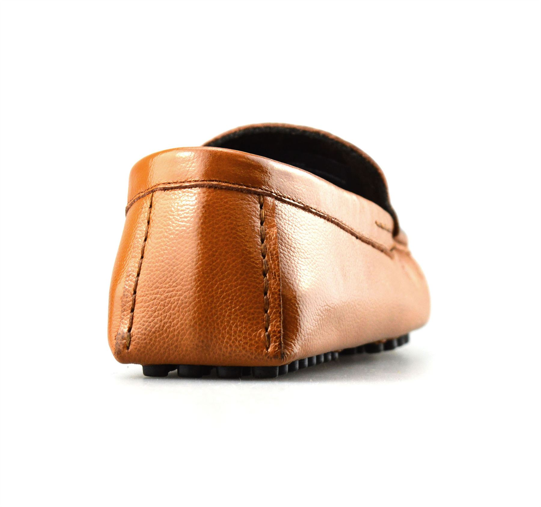 Mens-Leather-Slip-On-Casual-Smart-Loafers-Mocassin-Designer-Driving-Shoes-Size thumbnail 12