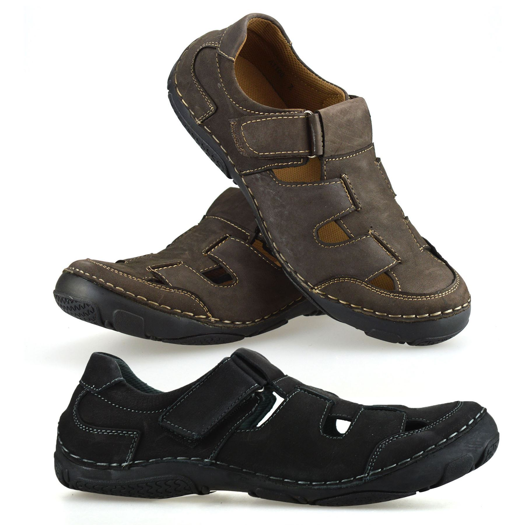 Mens Faux Leather Touch Strap Summer Beach Mules Gladiator Sandals Shoes Size