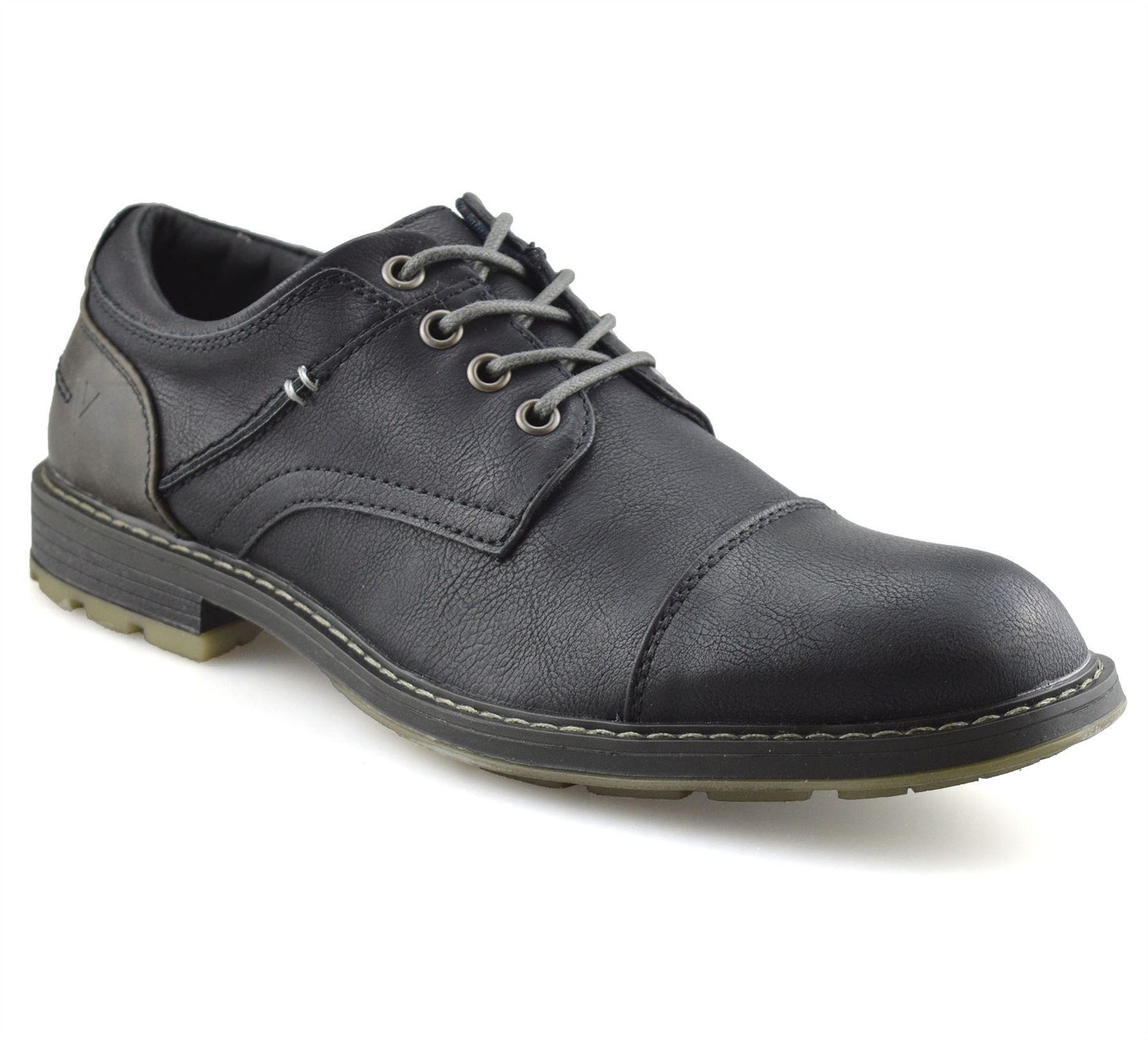 Mens-Smart-Casual-Comfort-Lace-Up-Work-Office-Formal-Derby-Toe-Cap-Shoes-Size thumbnail 8