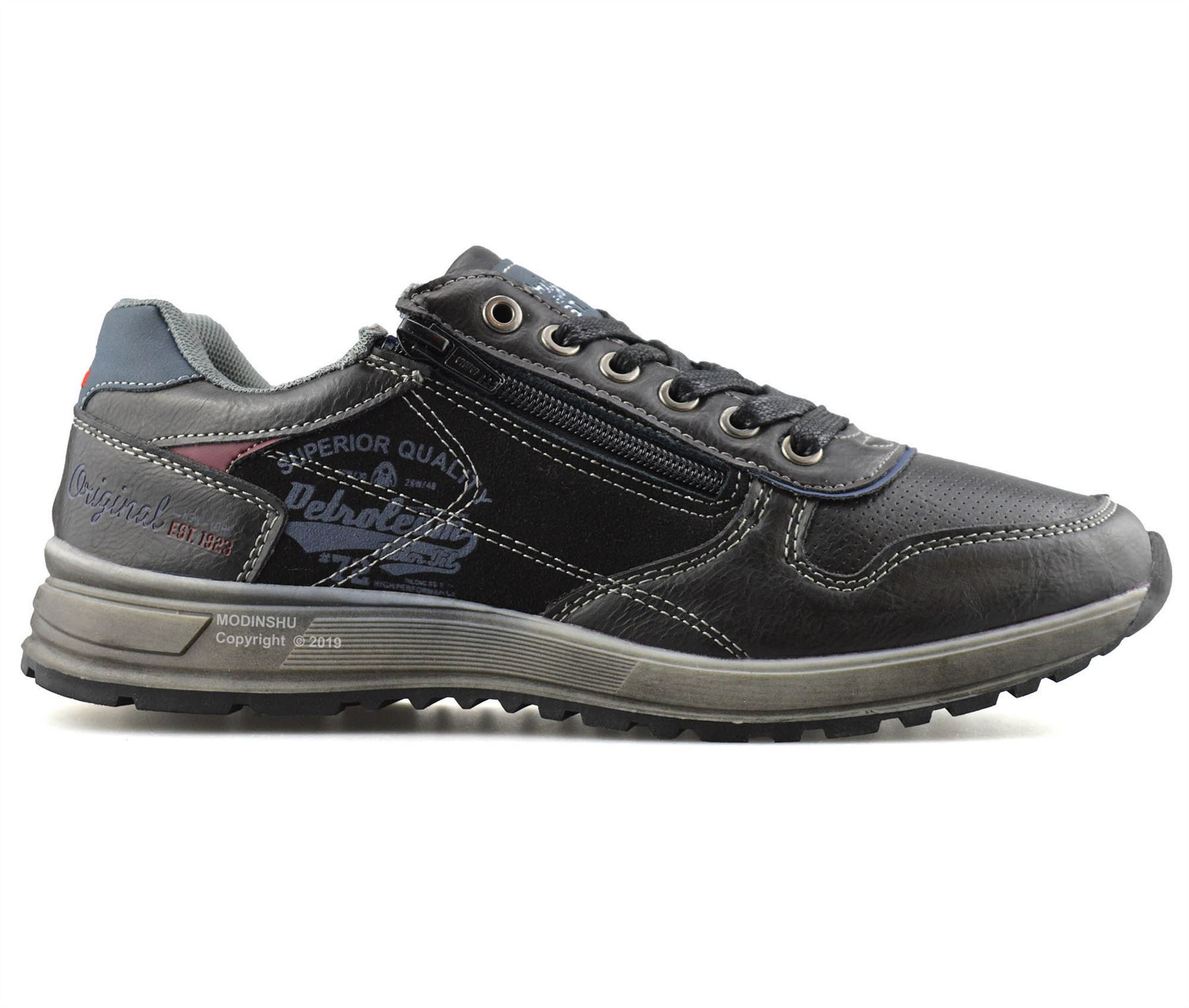 Mens-Casual-Zip-Lace-Up-Walking-Running-Hiking-Sports-Gym-Trainers-Shoes-Size thumbnail 9