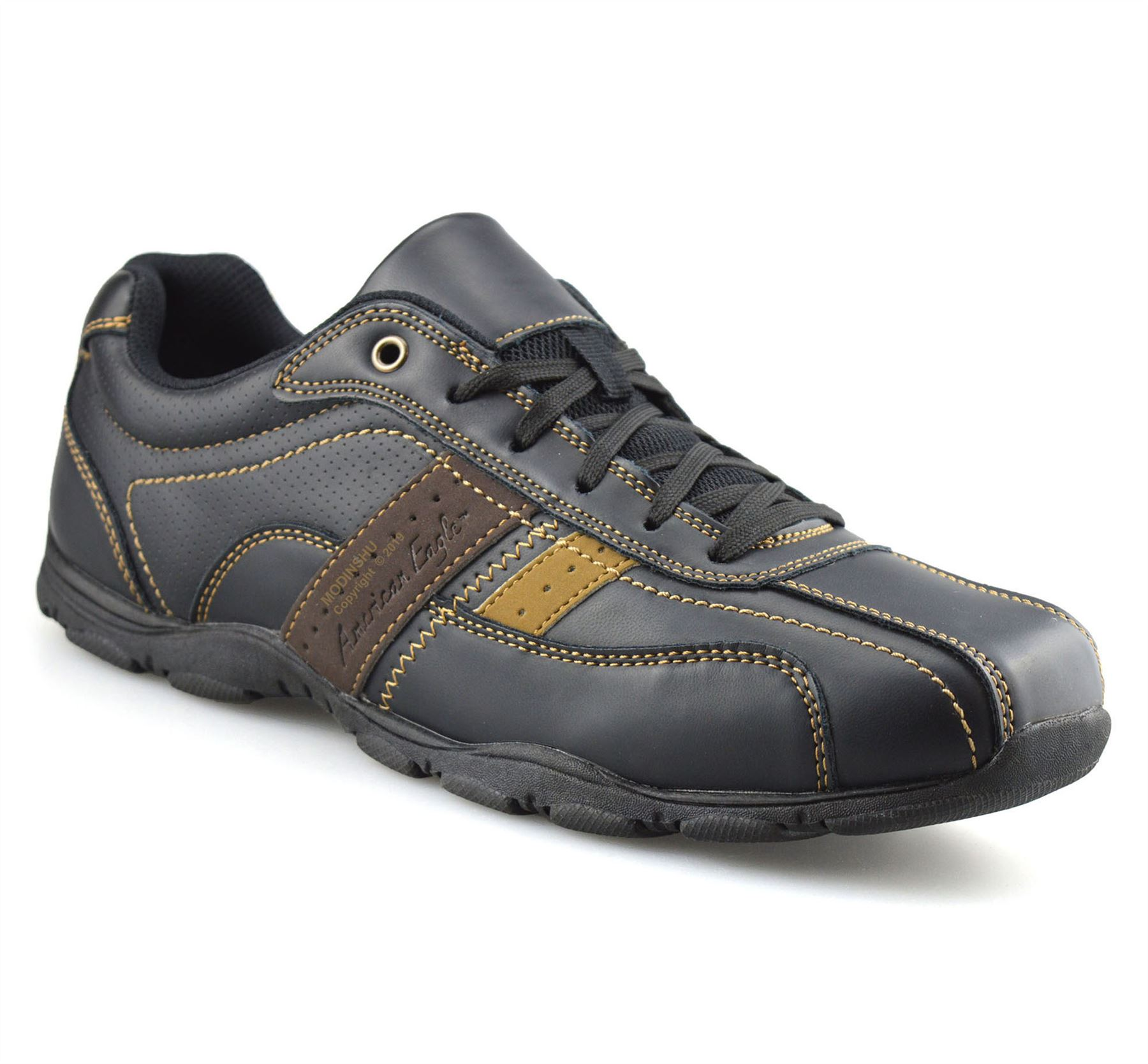 Mens-Casual-Memory-Foam-Walking-Hiking-Moccasin-Driving-Boat-Trainers-Shoes-Size thumbnail 9