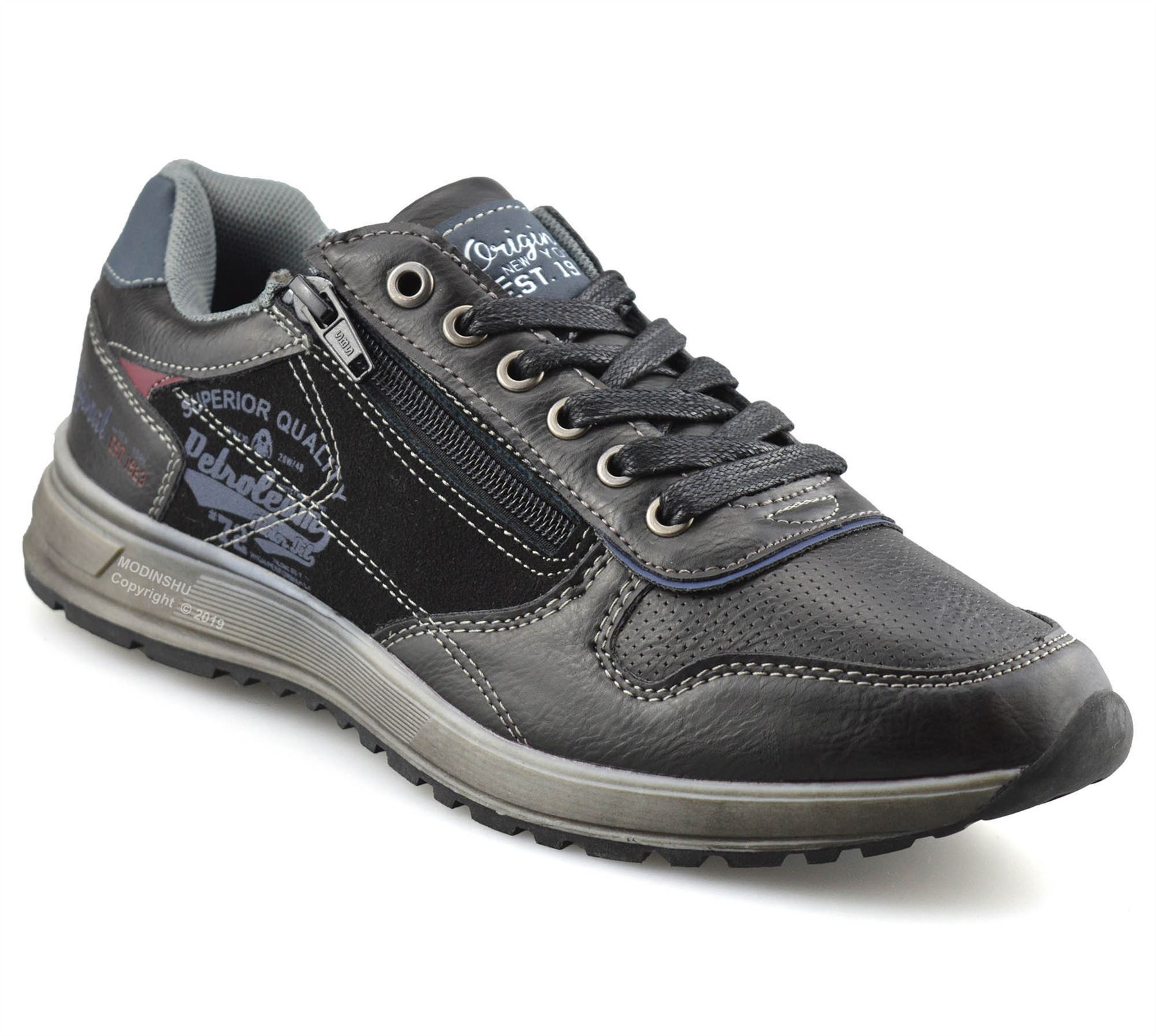 Mens-Casual-Zip-Lace-Up-Walking-Running-Hiking-Sports-Gym-Trainers-Shoes-Size thumbnail 8