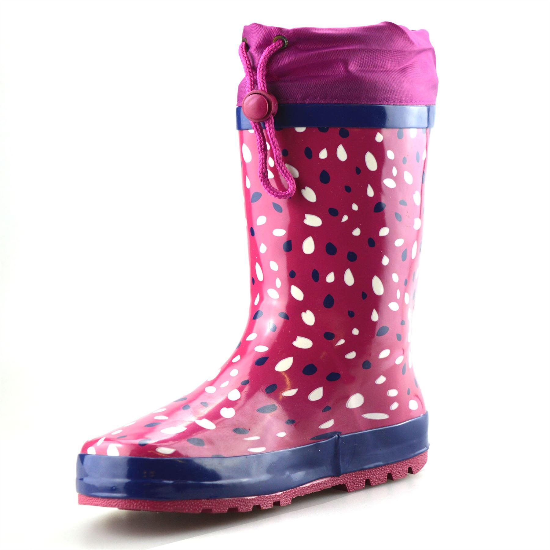 Girls-Boys-Kids-Waterproof-Wellies-Winter-Rain-Snow-Wellingtons-Boots-Shoes-Size