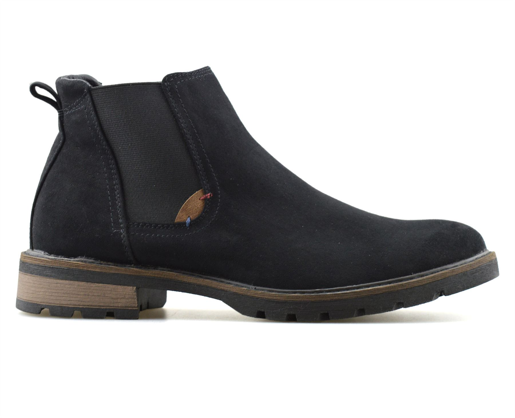 Mens-New-Smart-Formal-Chelsea-Dealer-Casual-Slip-On-Work-Ankle-Boots-Shoes-Size thumbnail 8